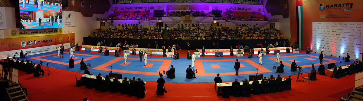 Athletes were aiming to secure places in Sunday's medal bouts ©WKF