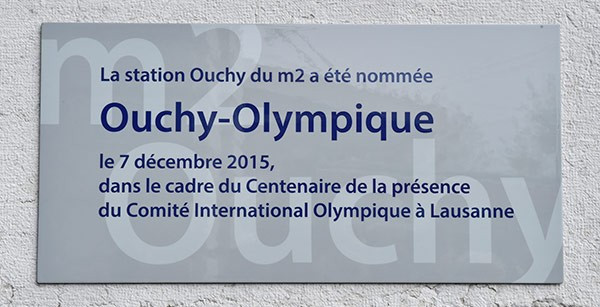 "Lausanne-Ouchy metro and bus stops renamed ""Ouchy-Olympique"" at ceremony"