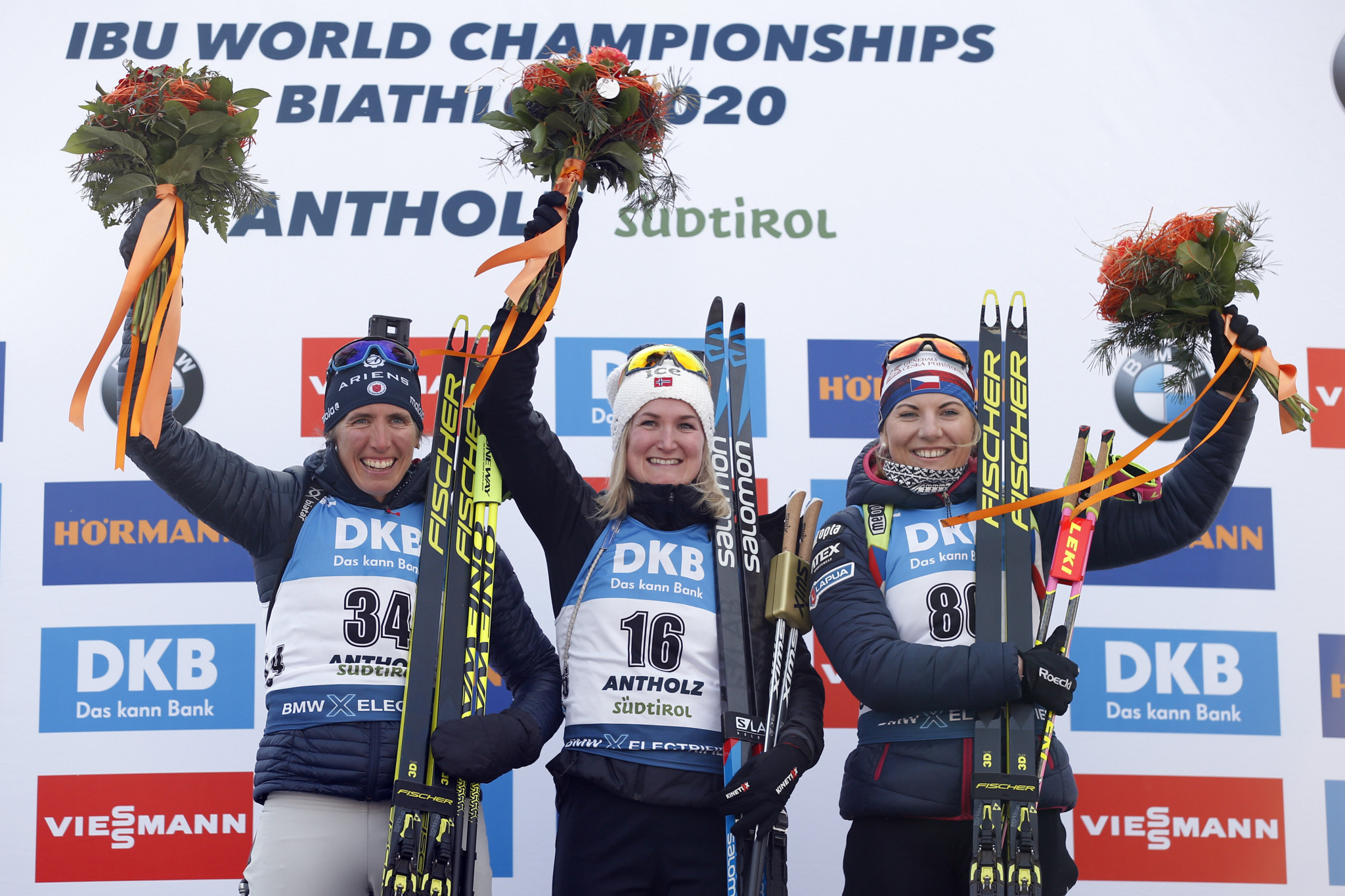 Marte Olsbu Røiseland of Norway triumphed in the women's sprint in Antholz-Anterselva ©Getty Images
