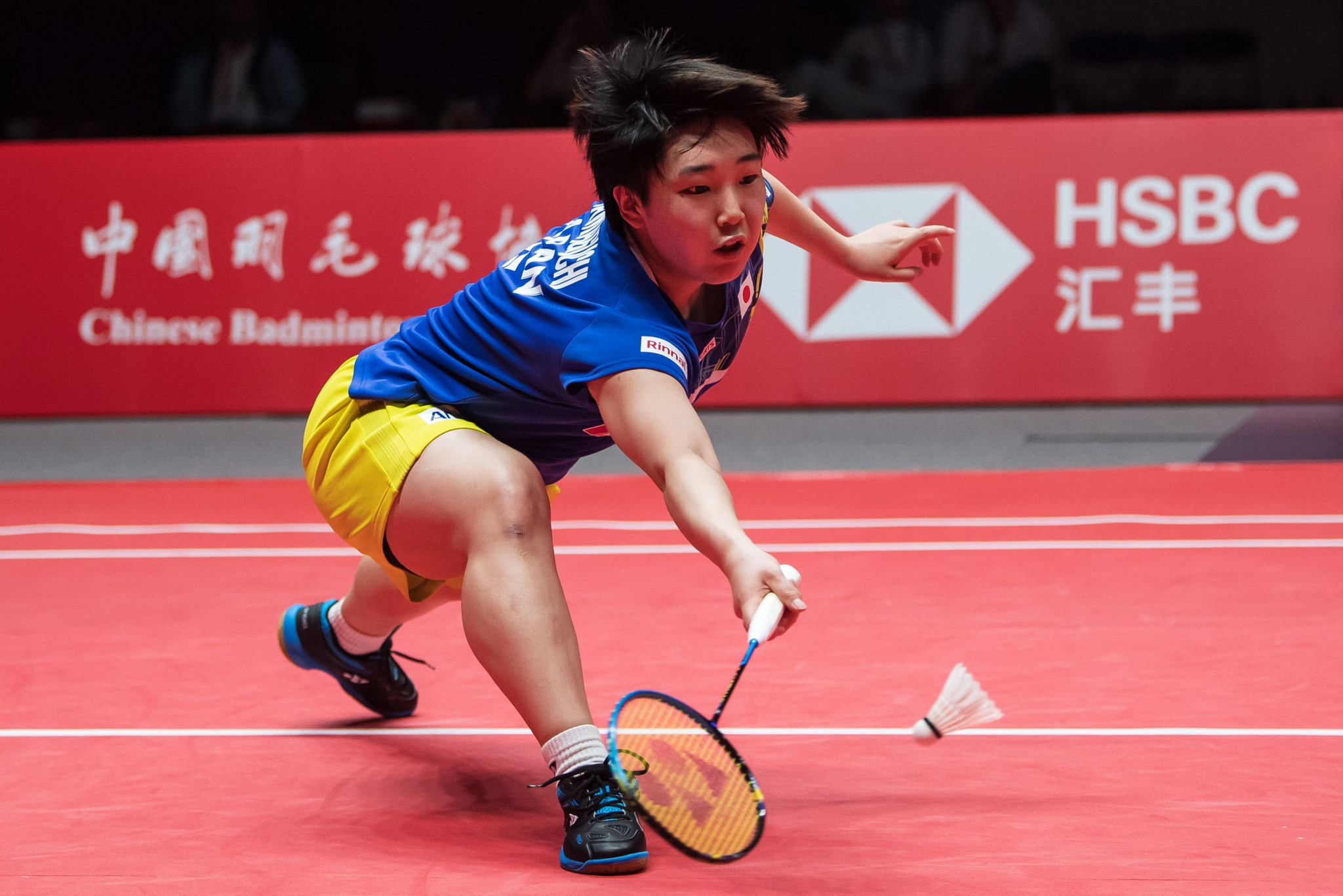 Akane Yamaguchi starred as defending women's champions Japan progressed to the final ©Getty Images