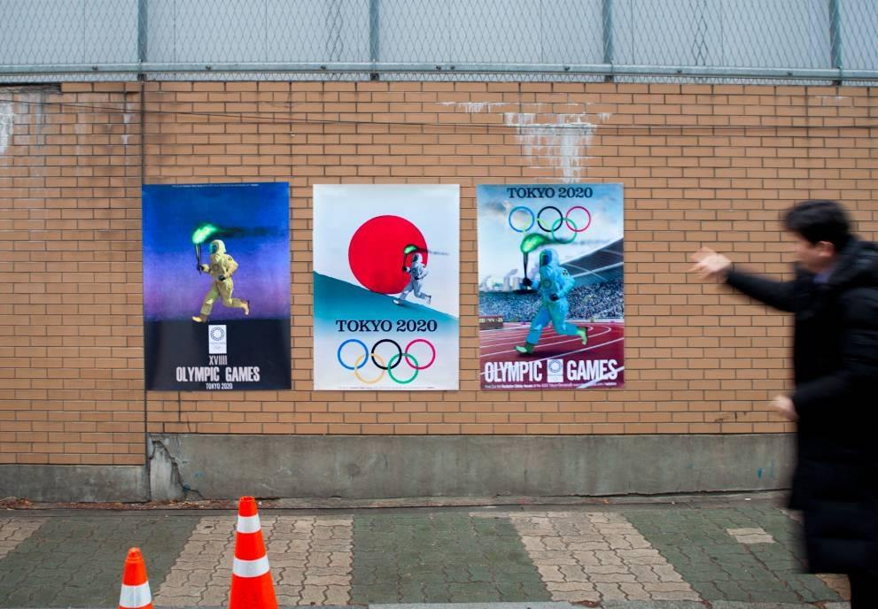 Olympics Minister criticises South Korean posters depicting torchbearer in radiation suit