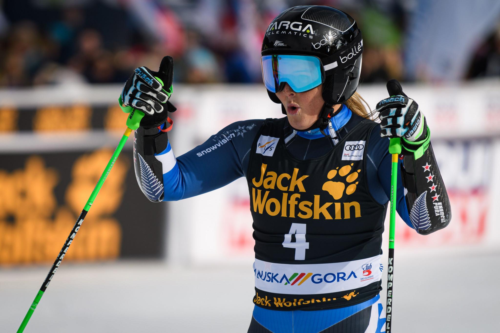Teenager Robinson earns second FIS Alpine Ski World Cup win at Kranjska Gora
