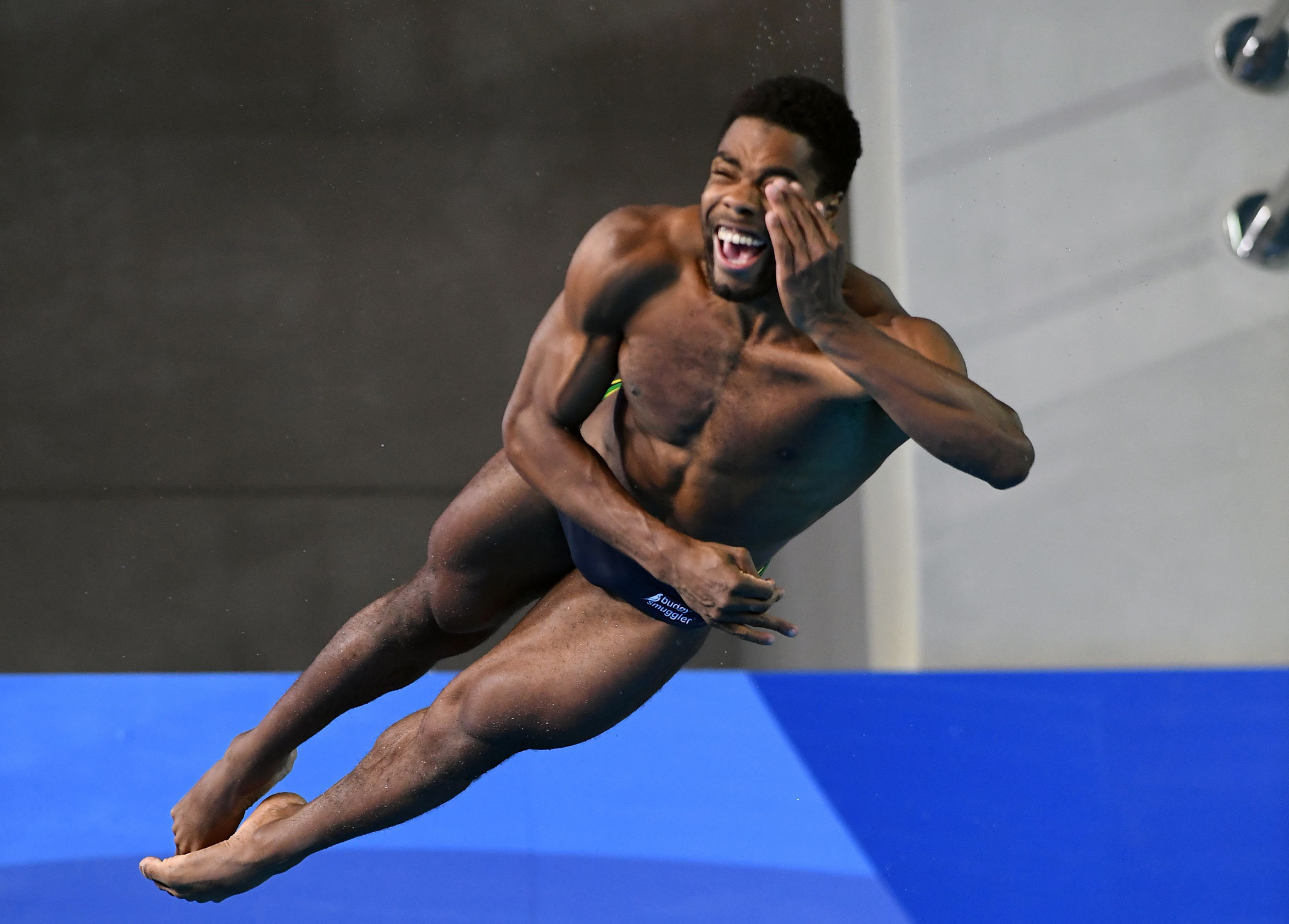 Jamaica's Yona Knight-Wisdom took advantage of mistakes by Steele Johnson to secure a deserved silver ©Getty Images