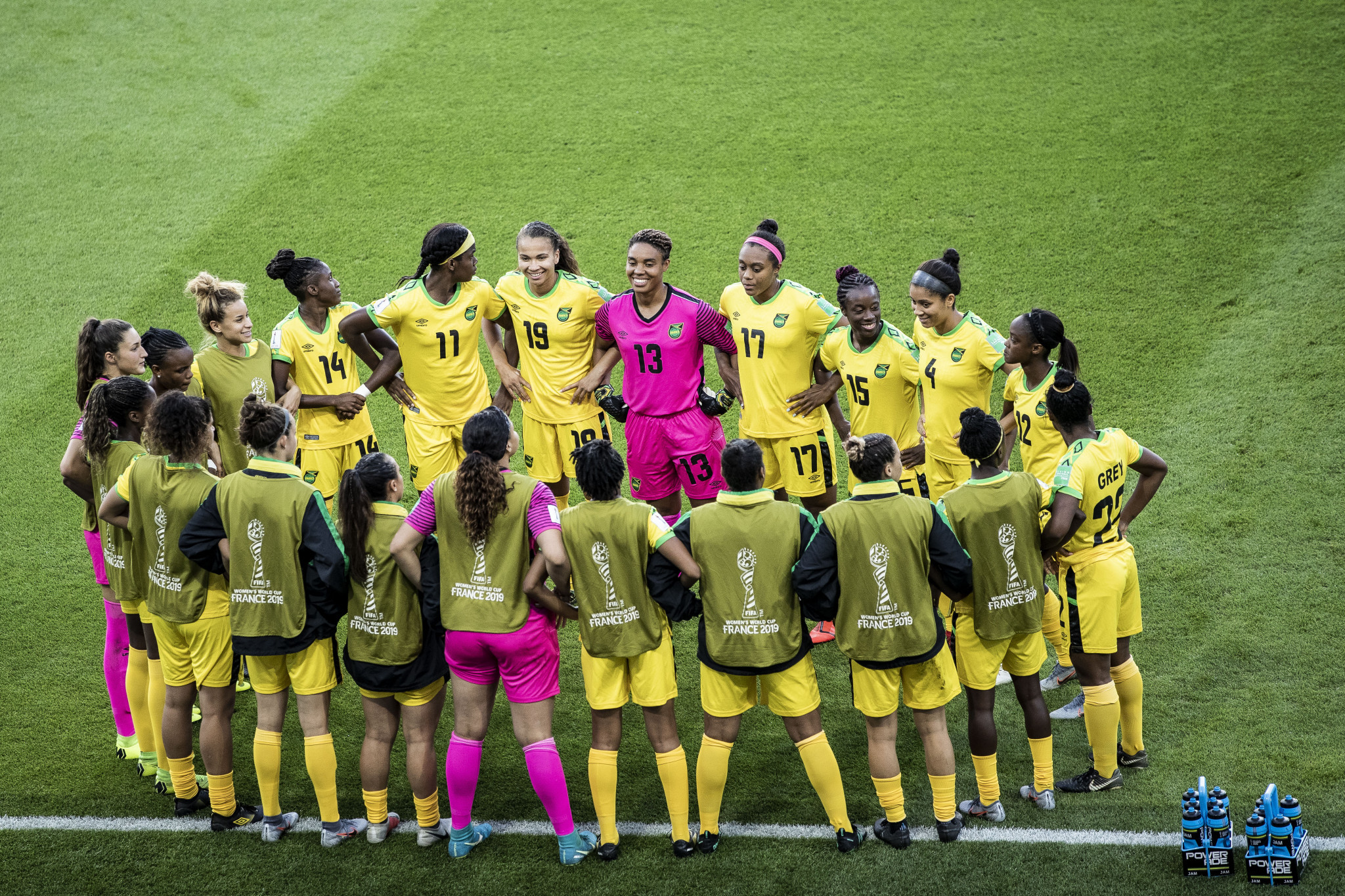 The Jamaican women's football team are still waiting for payment from the FIFA Women's World Cup, a story that has made headlines ©Getty Images