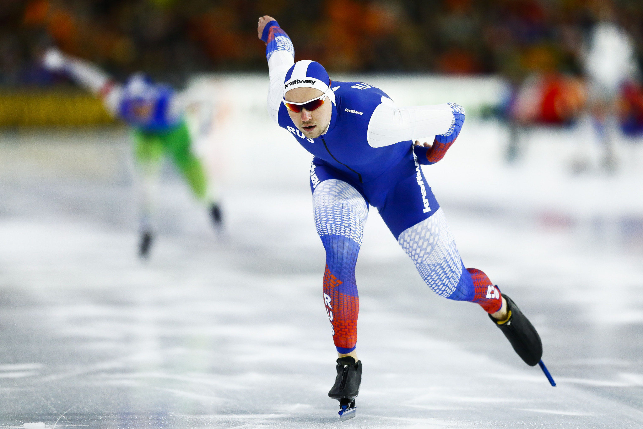 Pavel Kulizhnikov won his second gold of the Championships and broke the 1,000m world record ©Getty Images