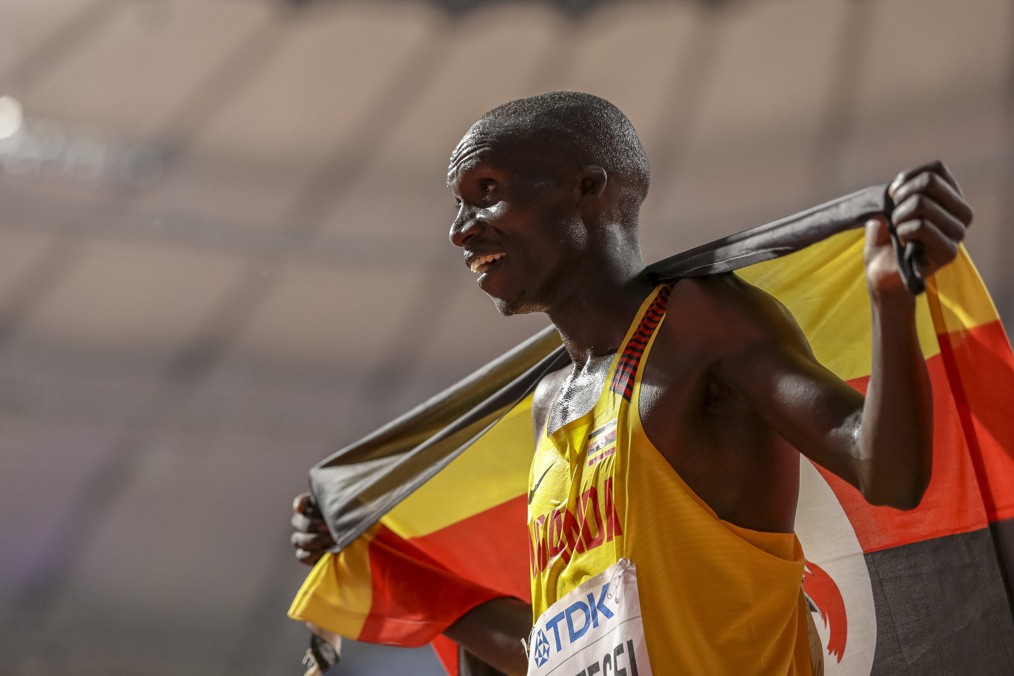 The Ugandan star shaved 27 seconds off the previous mark at the event in Monaco ©Getty Images