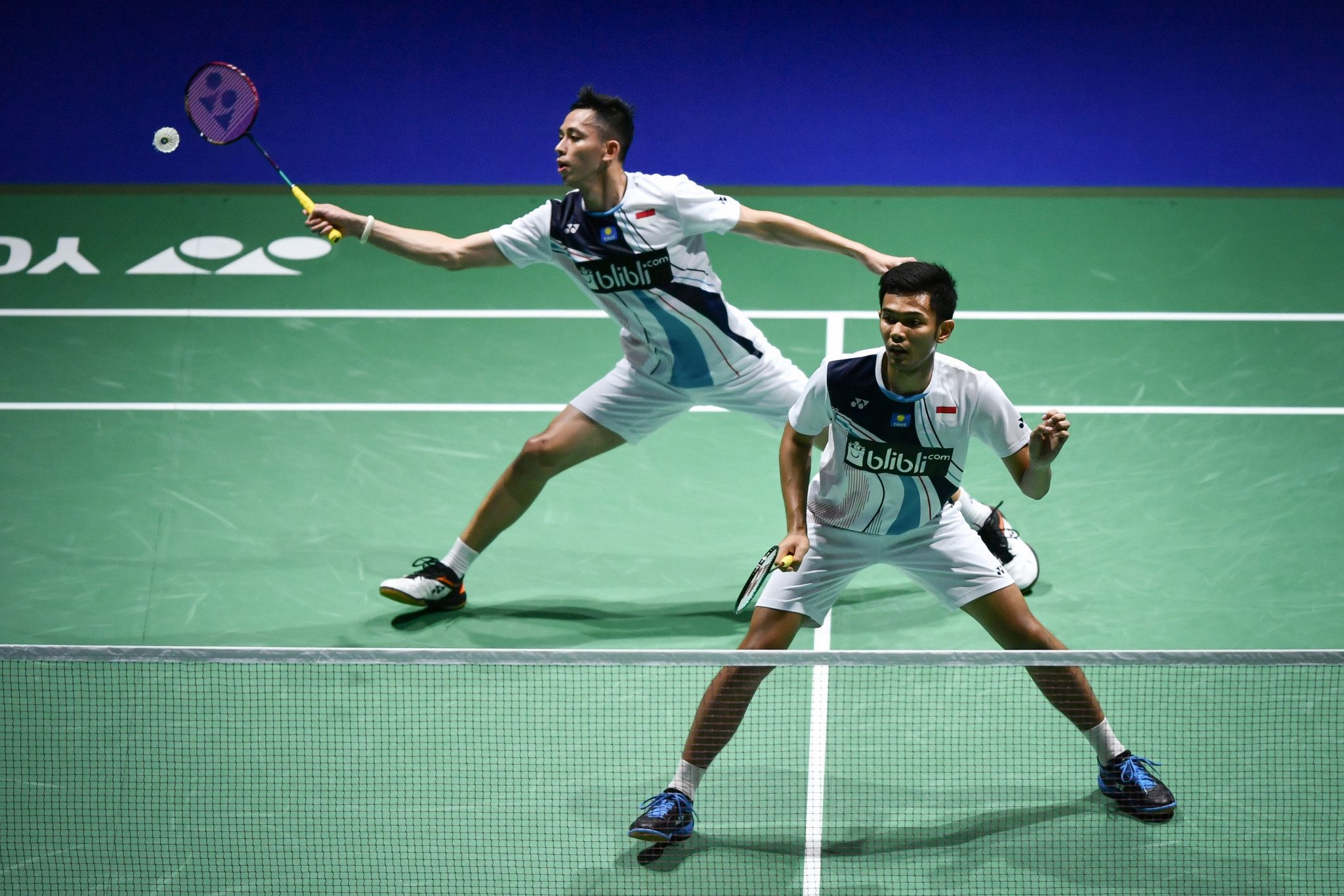 Mohammad Ahsan and Fajar Alfian sealed the men's title for Indonesia ©Getty Images