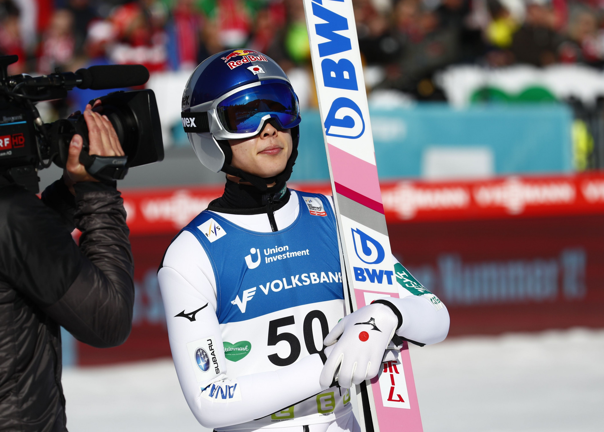 After a disappointing first day, Japan's Ryōyū Kobayashi returned to the podium with a silver medal behind Stefan Kraft ©Getty Images