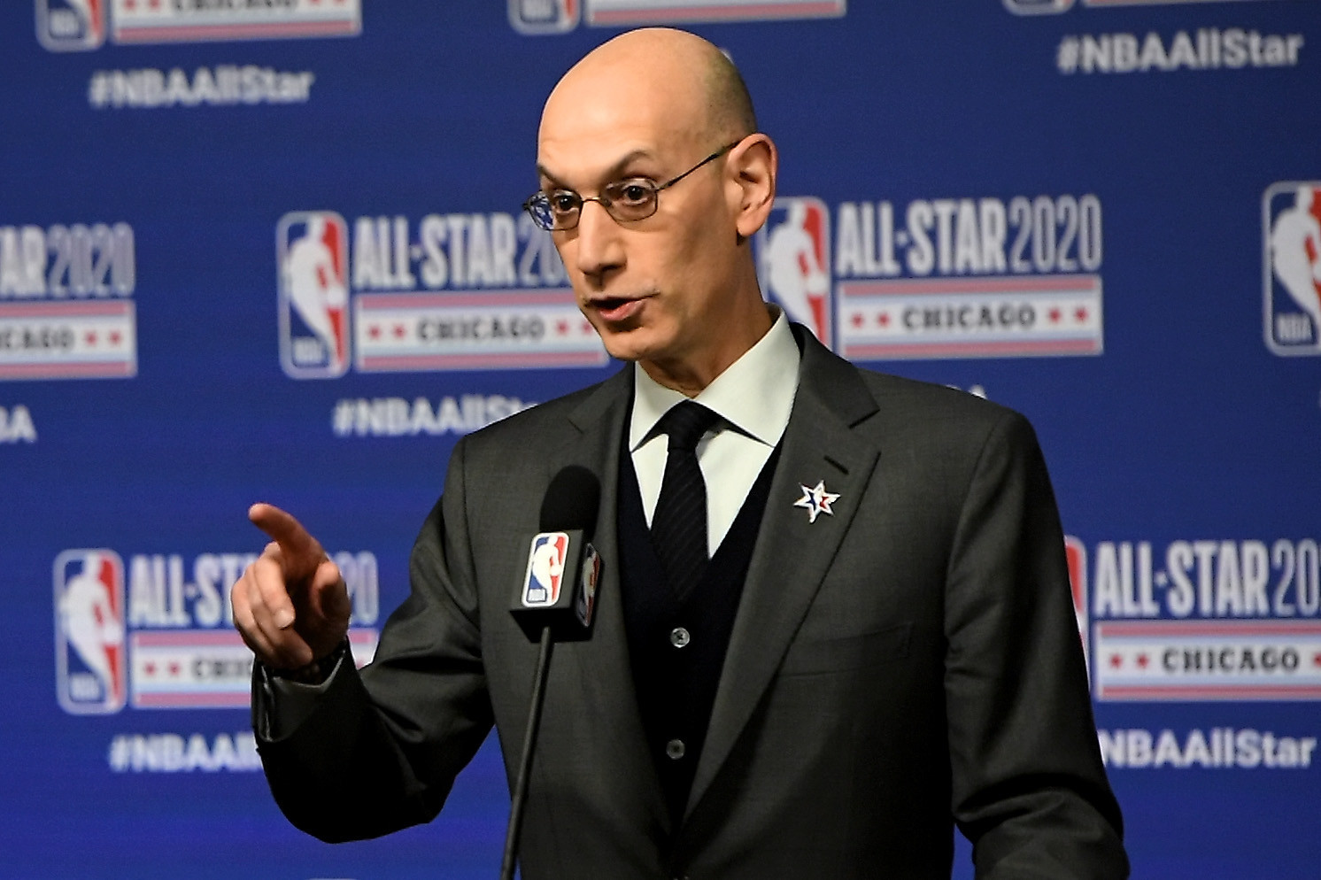 NBA Commissioner Adam Silver has claimed the United States might play matches in China before the Olympics ©Getty Images