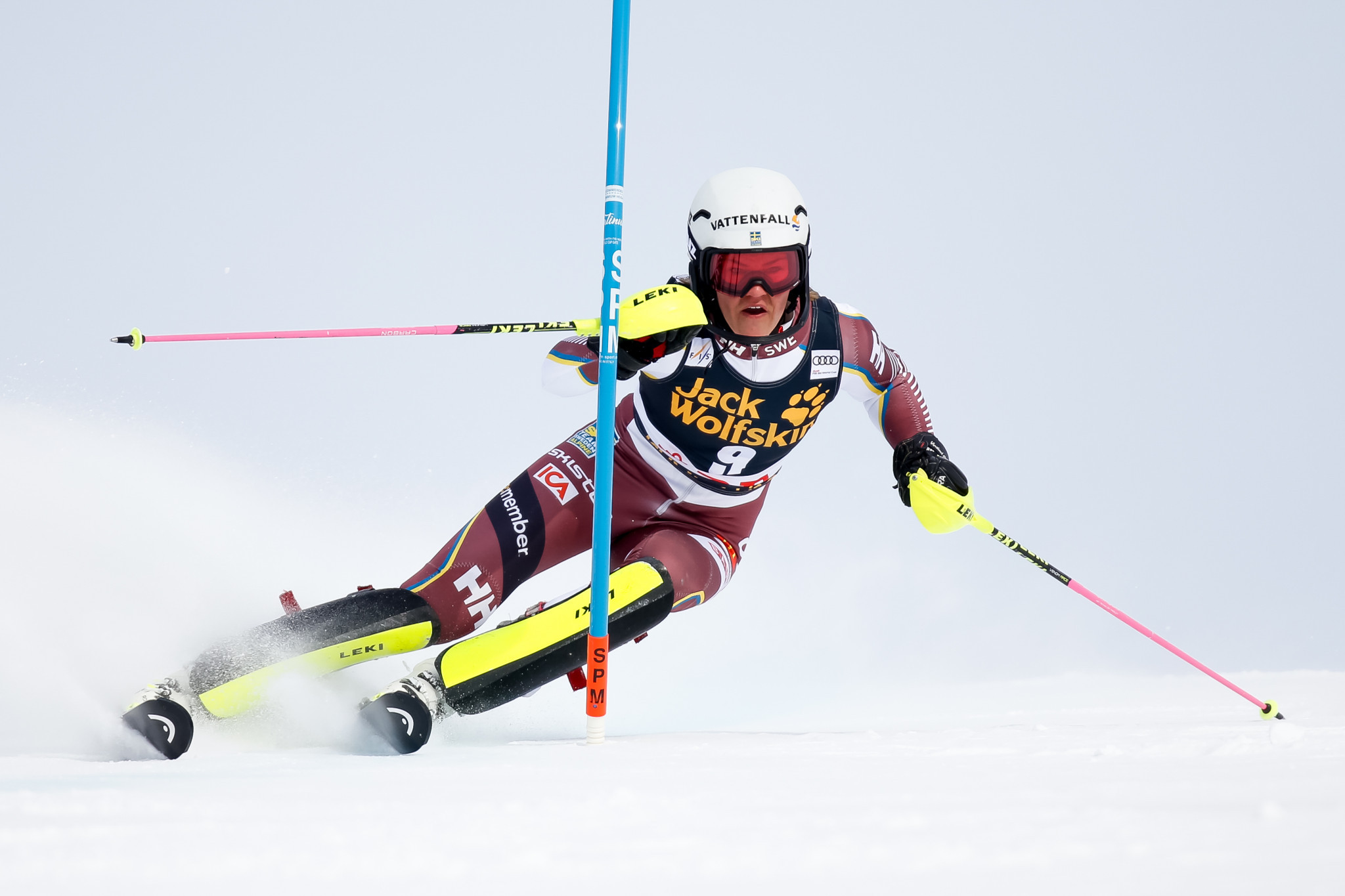 Anna Swenn-Larsson had led the competition but crashed on the final run ©Getty Images