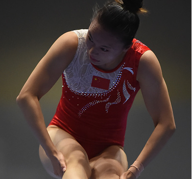 Zhu Xueying clinched gold in the women's trampoline competition ©Getty Images