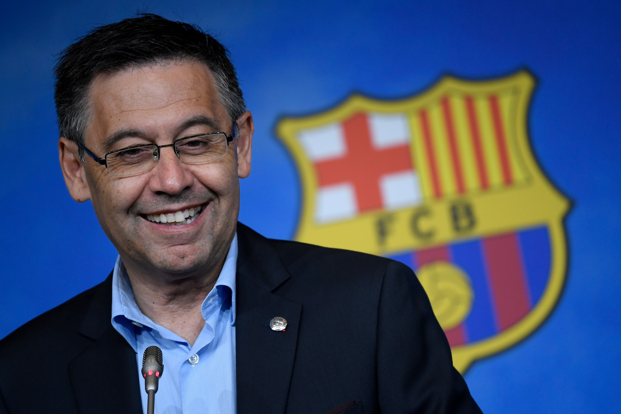 "FC Barcelona President Josep Maria Bortomeu has said the club will not participate in ""violent"" esports games ©Getty Images"