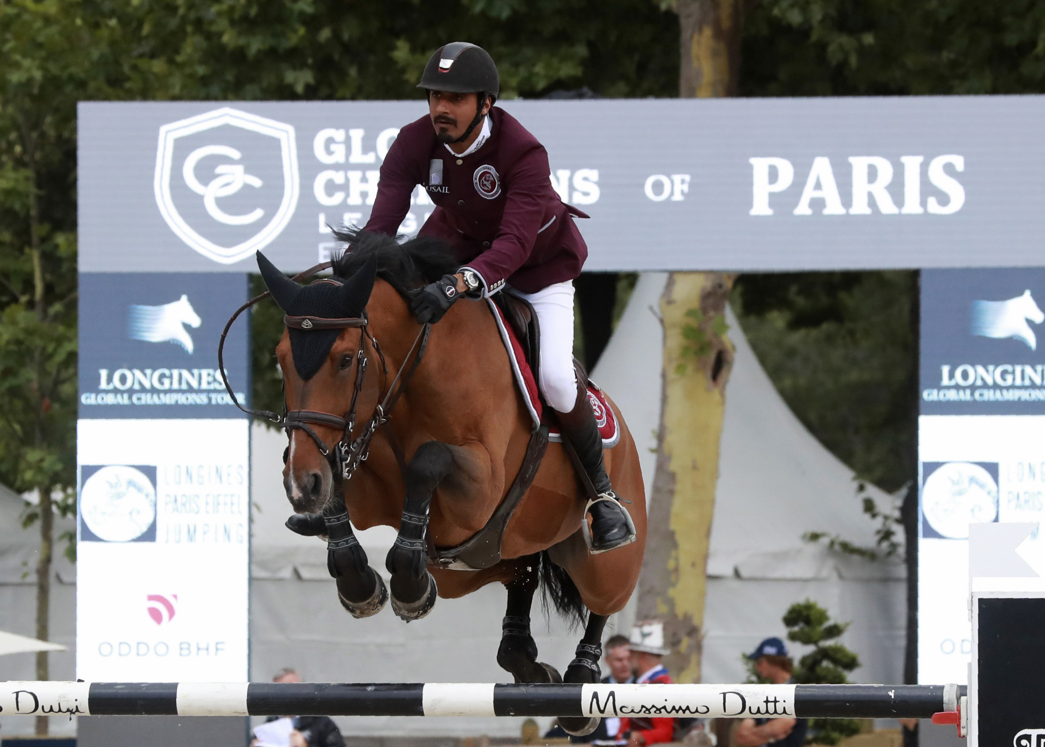 Qatar's Sheikh Ali Al Thani was one of two riders to test for a banned substance, leading to Morocco taking his nation's place at Tokyo 2020 ©Getty Images