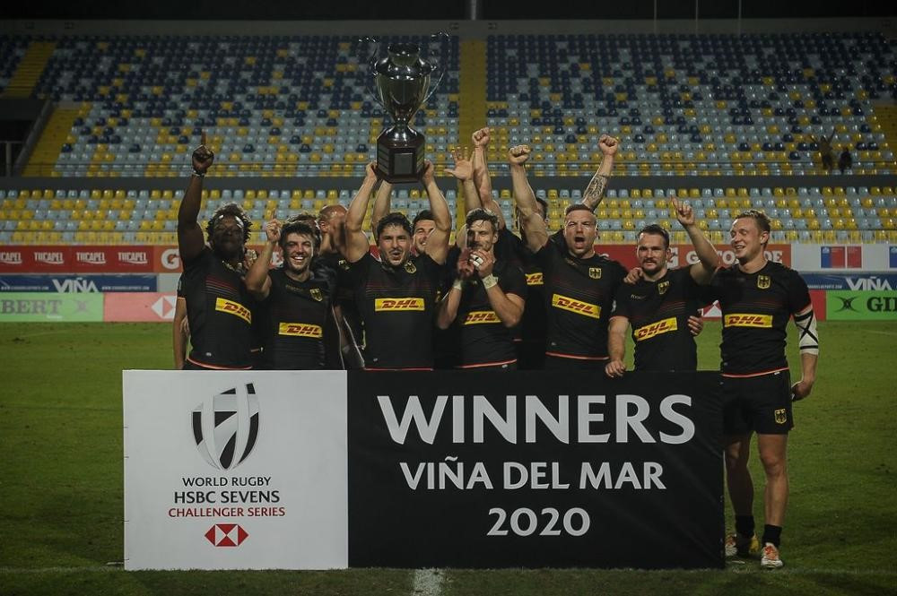 Germany win inaugural men's World Rugby Sevens Challenger Series event in Chile