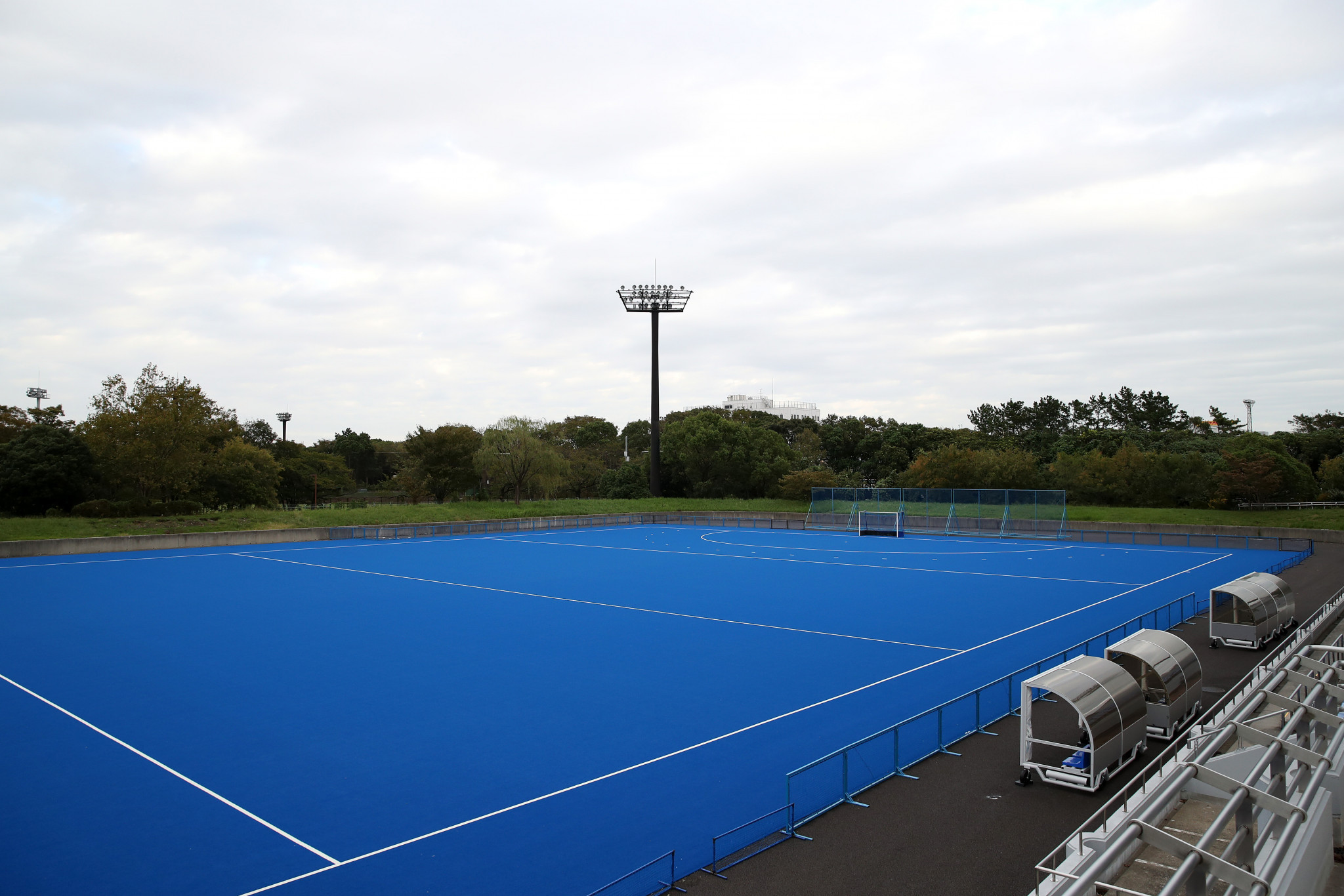 Sustainable hockey pitch developed for Tokyo 2020