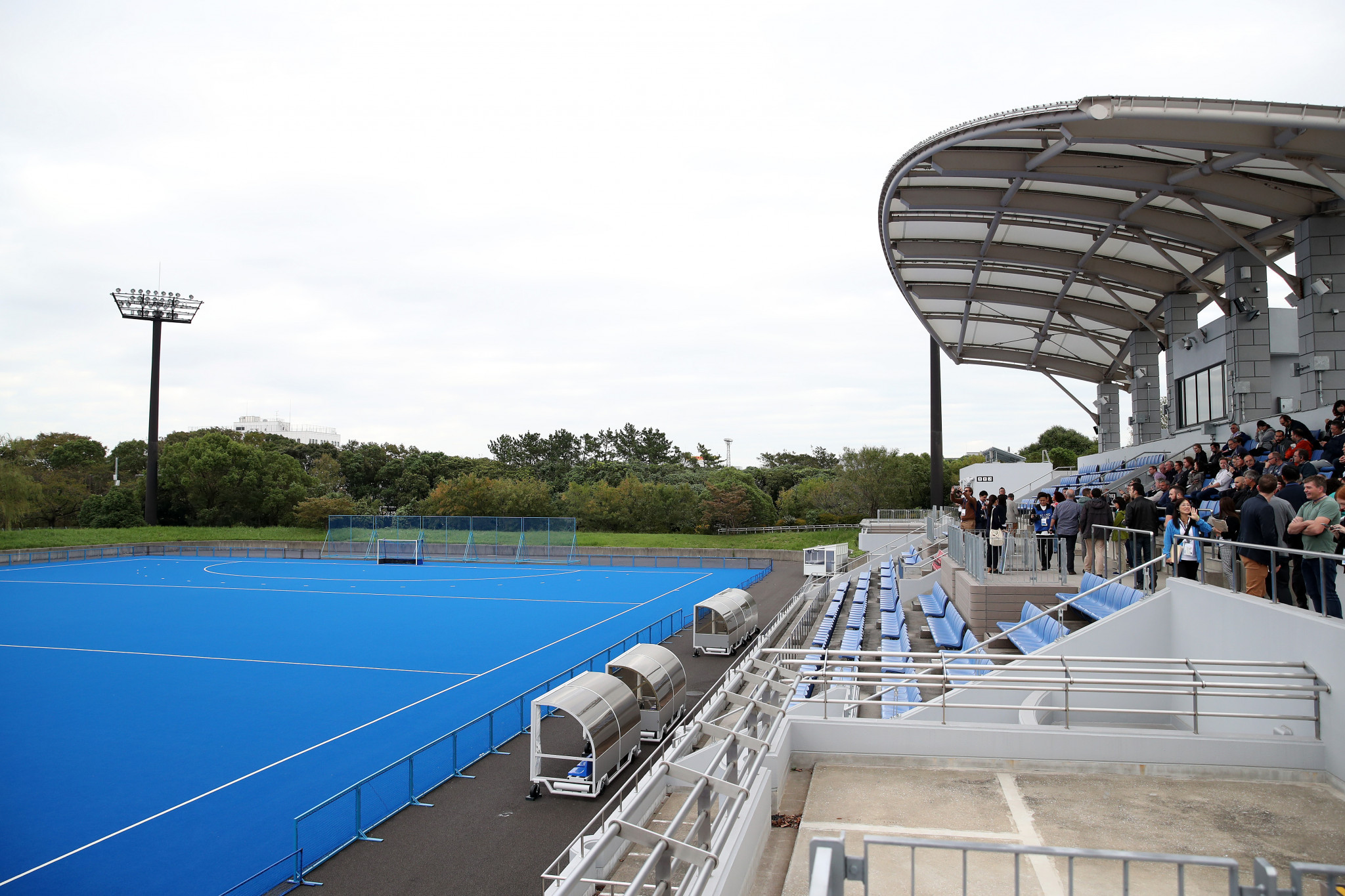 A sustainable pitch has been installed at the Oi Hockey Stadium in time for Tokyo 2020 ©Getty Images
