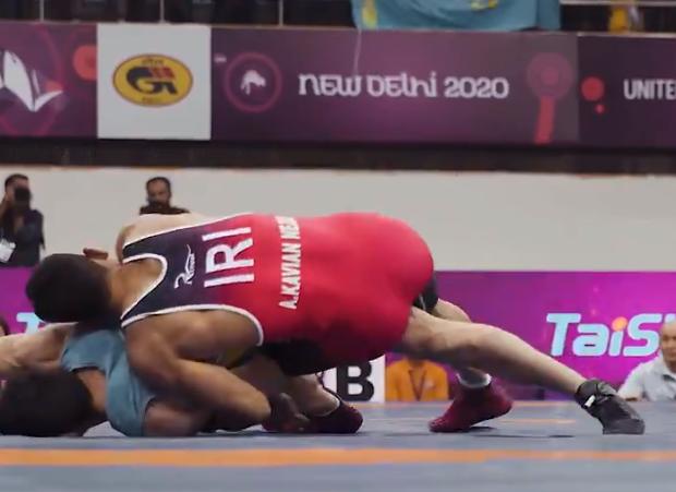 Iran enjoy golden hat-trick in Greco-Roman at Asian Wrestling Championships