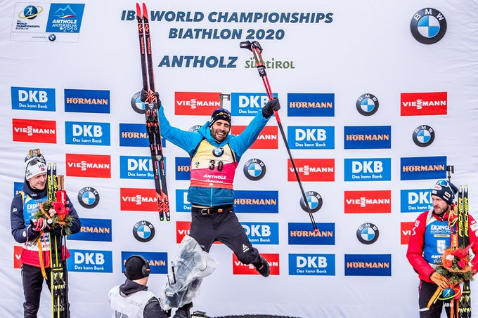 Fourcade wins 11th gold to equal individual all-time record at Biathlon World Championships