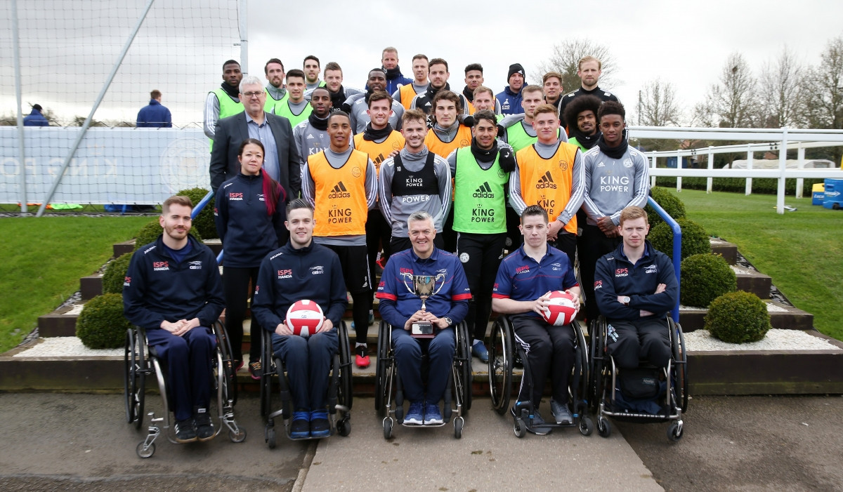 British team tour Leicester City training ground ahead of Wheelchair Rugby Quad Nations