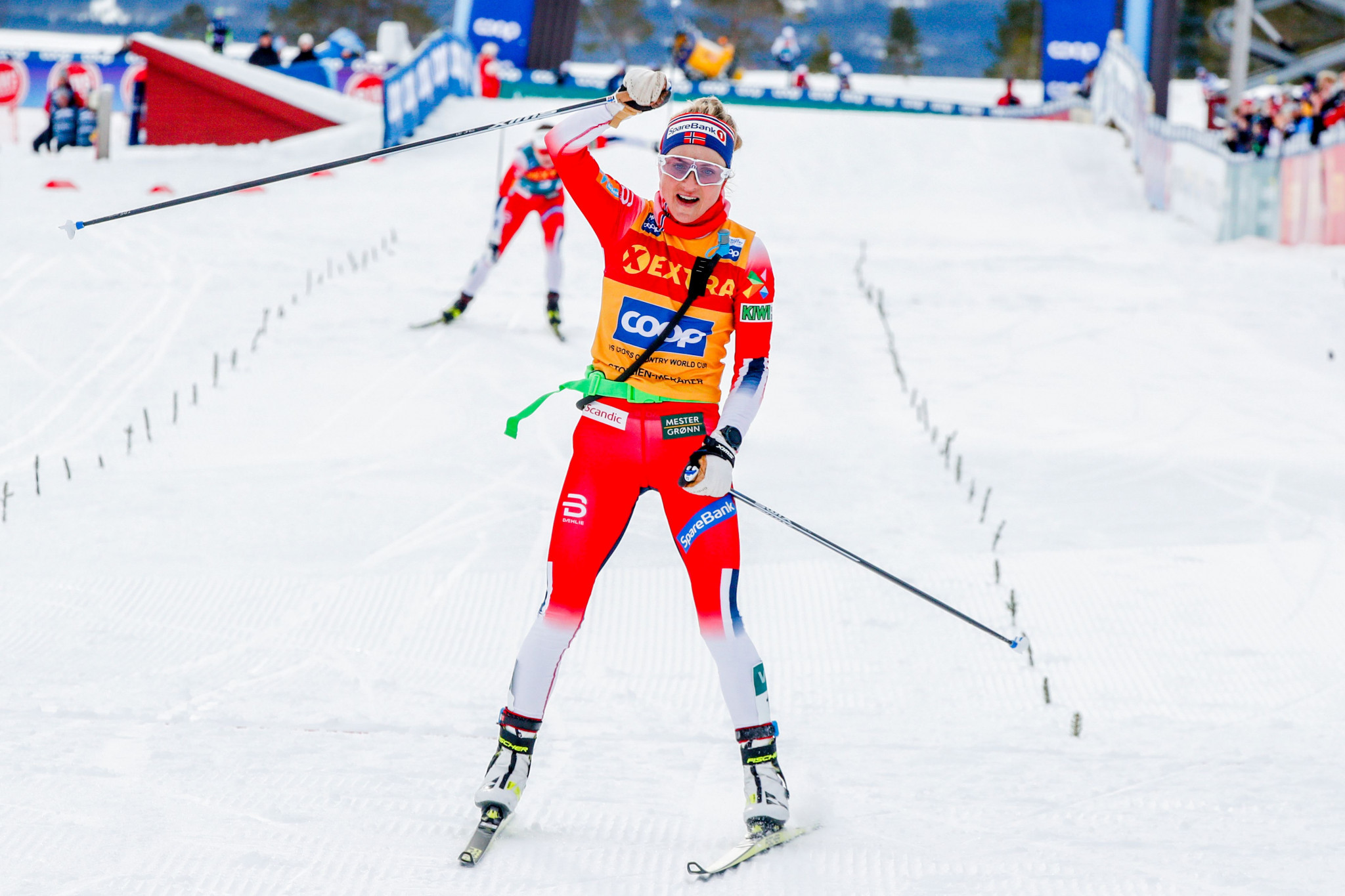 Norway's Johaug wins fifth straight FIS Cross-Country World Cup event before home crowd