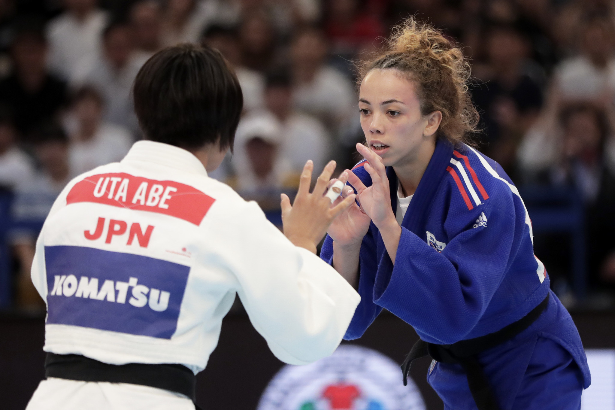 Britain's Chelsie Giles and Japan's Uta Abe, who faced each other in the quarter-finals of the 2019 World Judo Championships in Tokyo, could meet in the quarter-finals of the IJF Grand Slam again in Düsseldorf  ©Getty Images