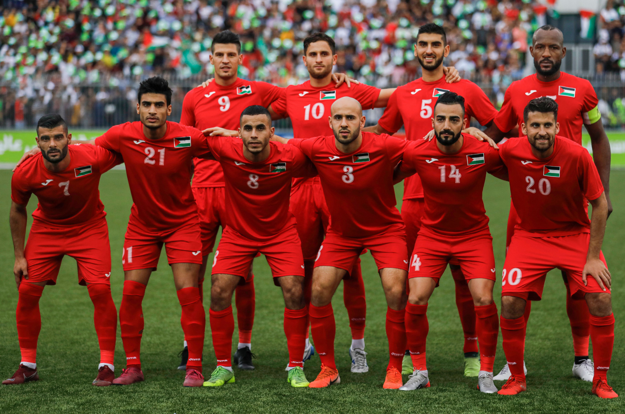 Palestine rose three places to 103rd in the FIFA world rankings ©Getty Images