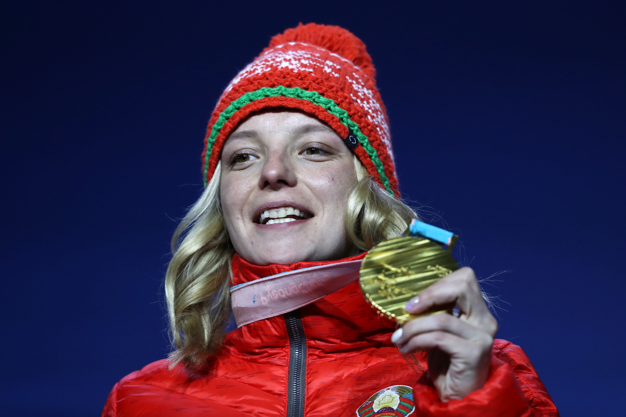 Olympic aerials champion Hanna Huskova won last time out in Moscow to take her first World Cup win of the season ©Getty Images