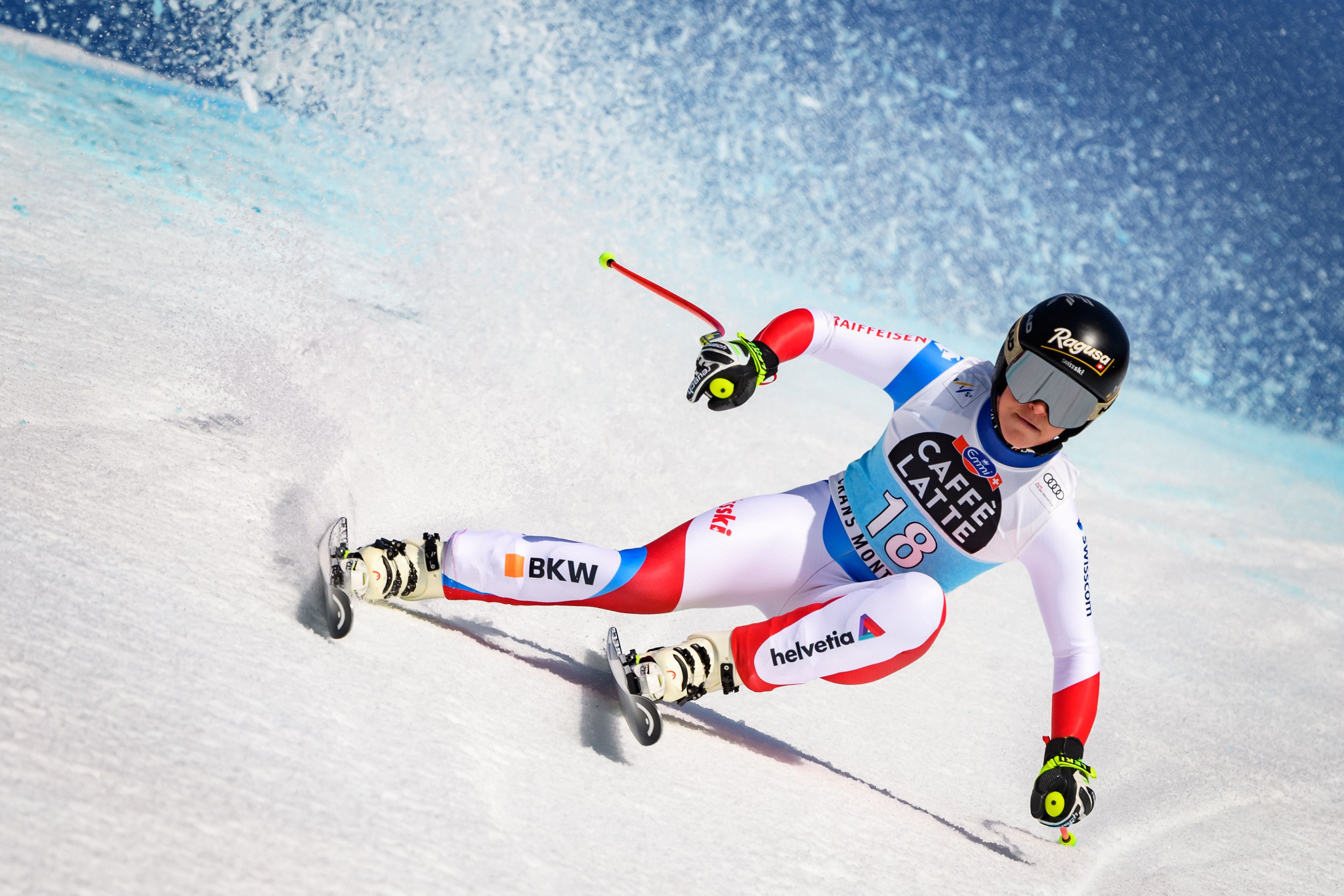 Lara Gut-Behrami led a Swiss one-two in the women's FIS Alpine Ski World Cup downhill in Crans-Montana ©Getty Images