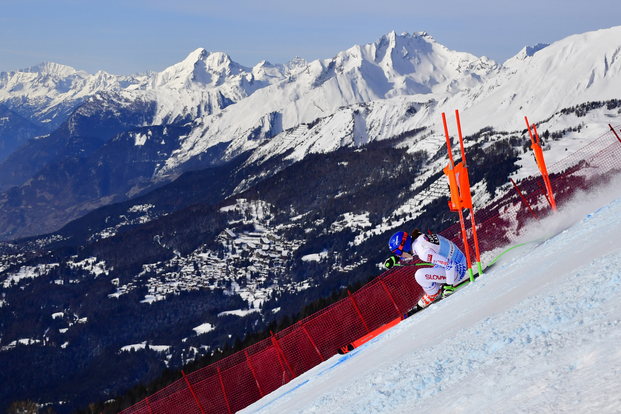 Slovakia's Petra Vlhová recorded a career-best downhill result by finishing fourth ©Getty Images