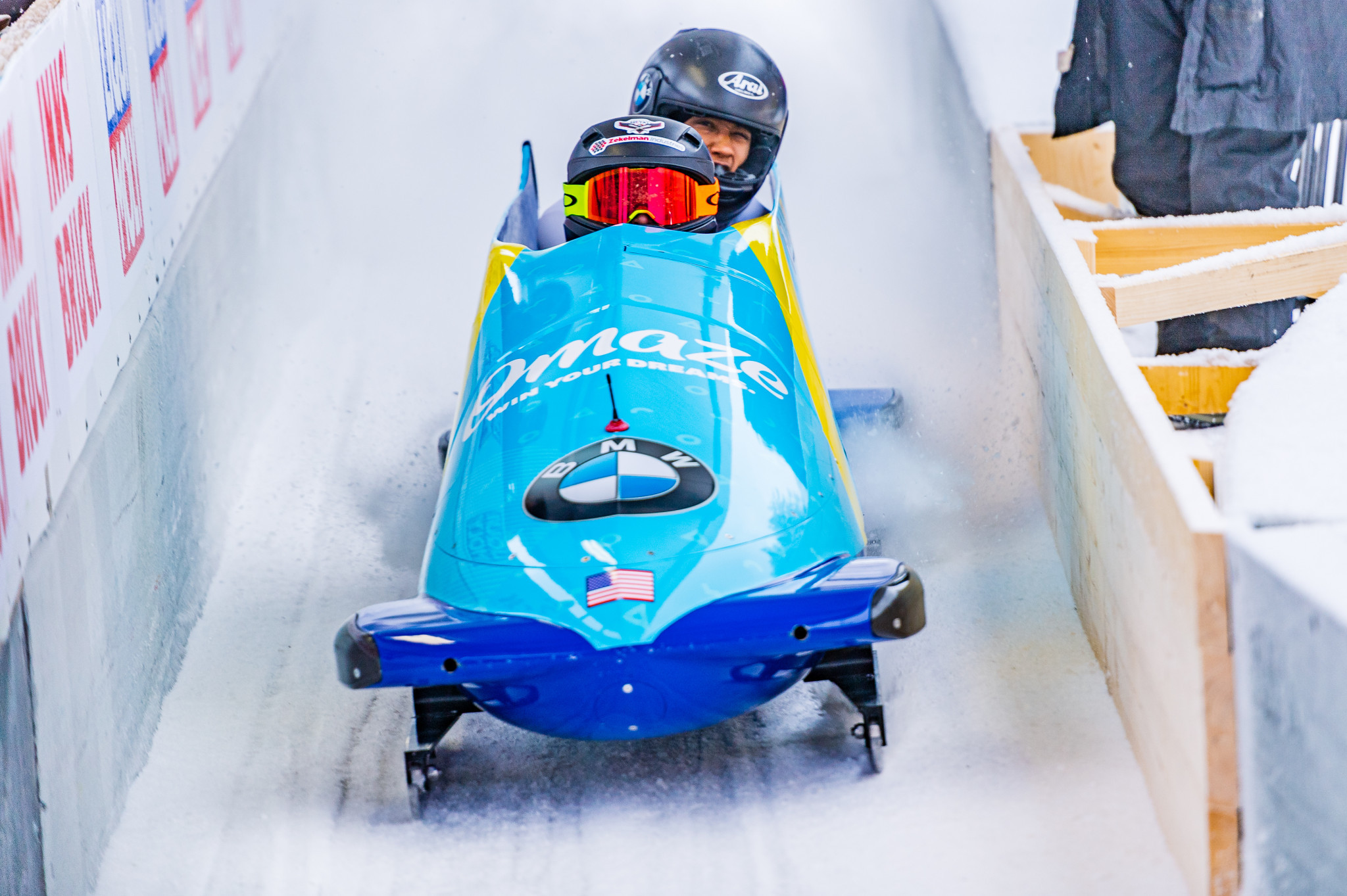 Kaillie Humphries took charge on the first day of the two-woman event at the IBSF World Championships in Altenberg ©Getty Images