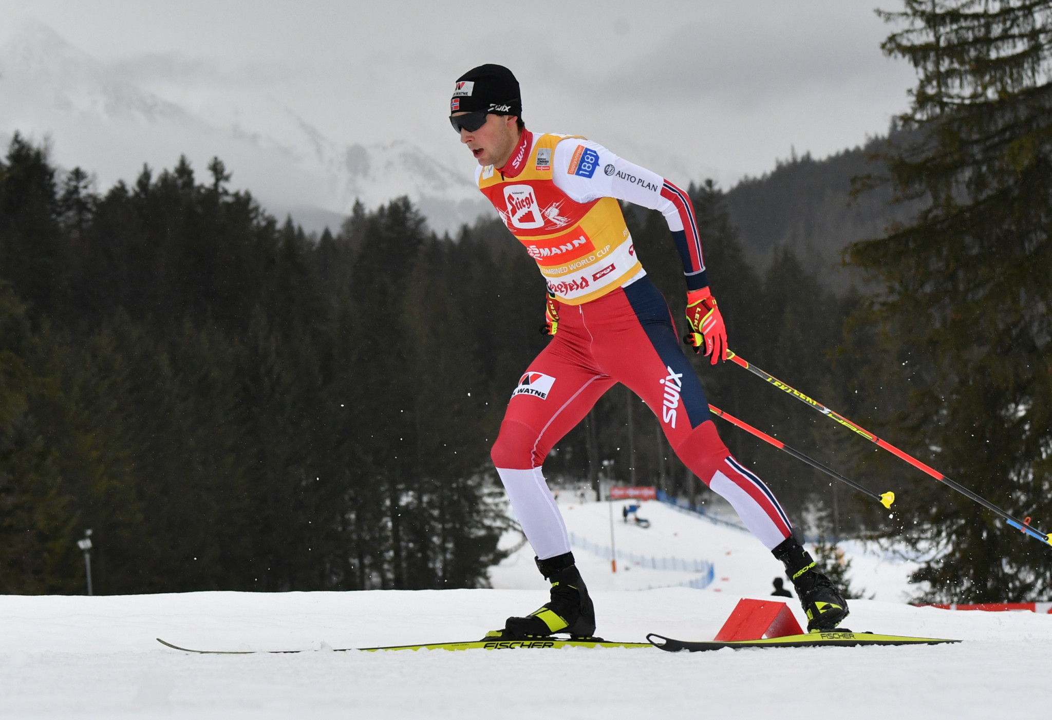 Jarl Magnus Riiber has a strong lead prior to the back-to-back World Cups in Trondheim ©Getty Images