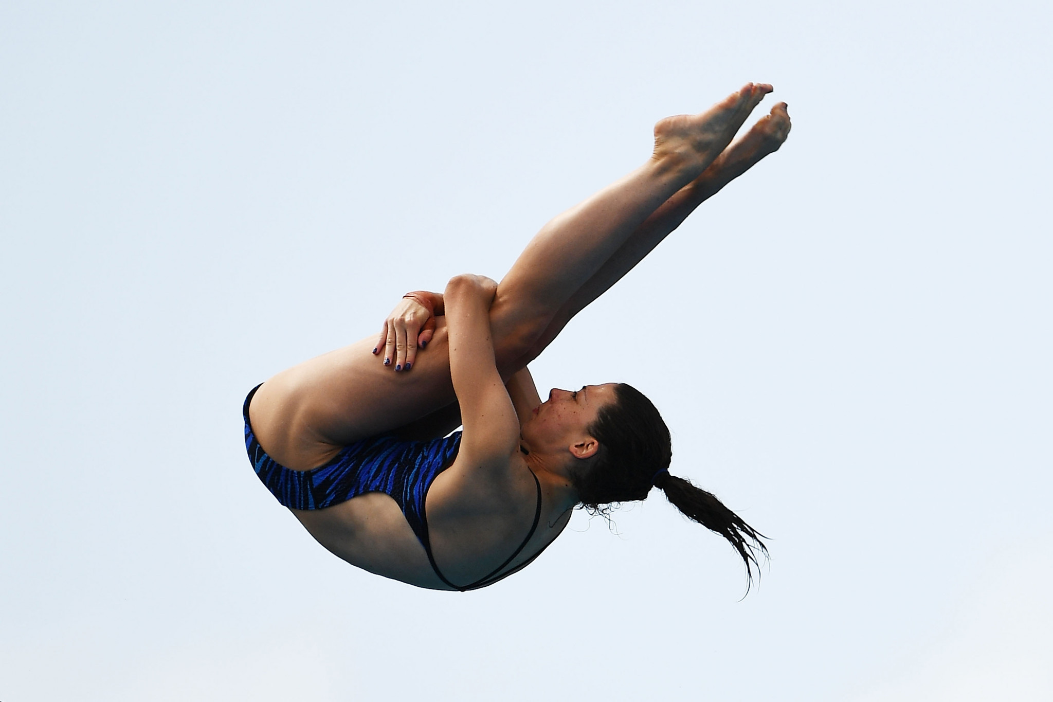 Britain's Gemma McArthur was successful in the mixed synchro platform, winning gold with Lucas Thomson as well as finishing fourth in the women's platform ©Getty Images