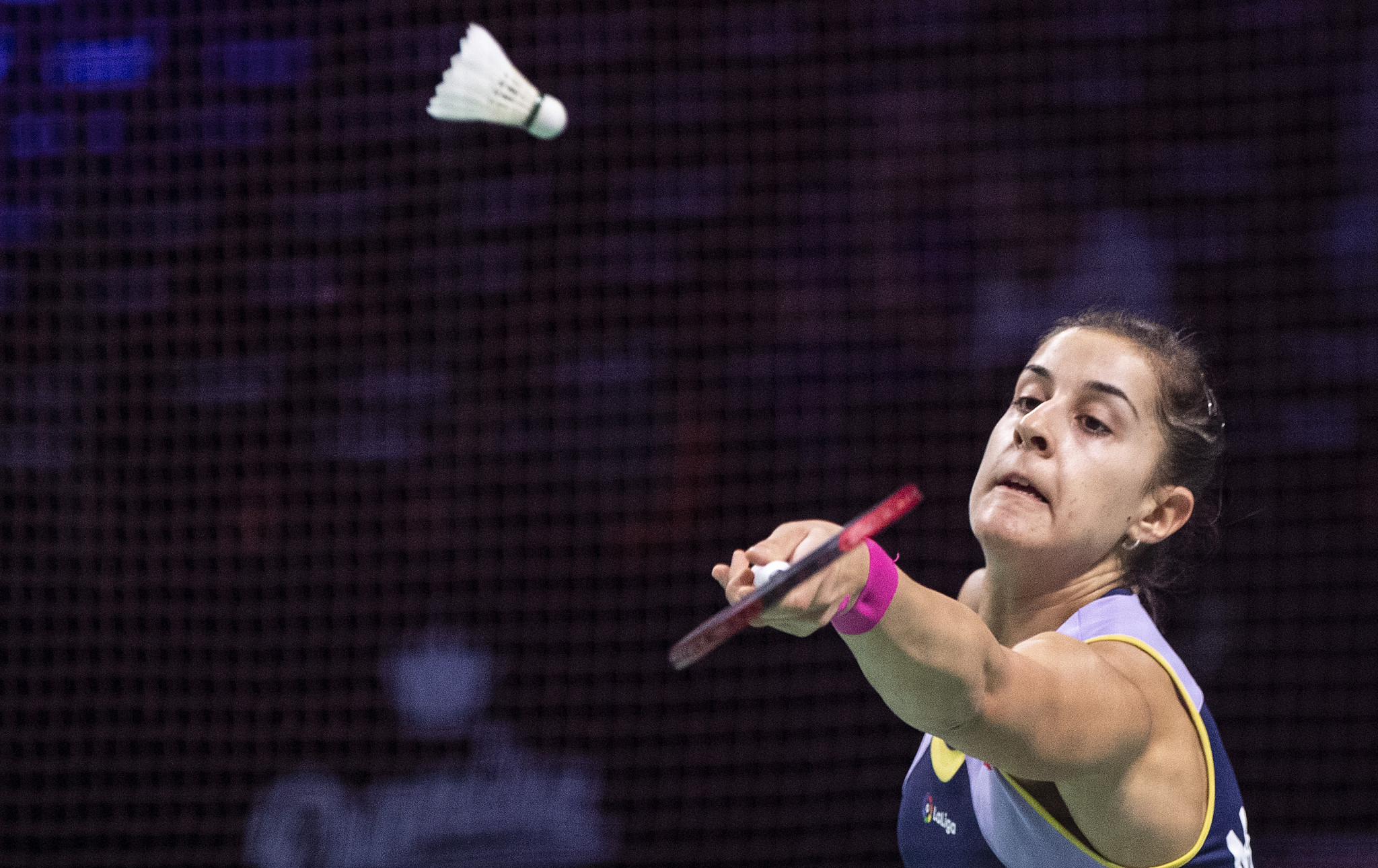 Carolina Marín remains on course to win the women's singles event at the BWF Barcelona Spain Masters ©Getty Images