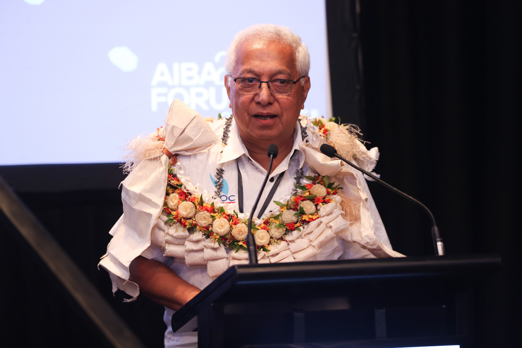 Acting Association of National Olympic Committees President Robin Mitchell was another speaker, giving a presentation on the Oceania National Olympic Committees education programme ©AIBA