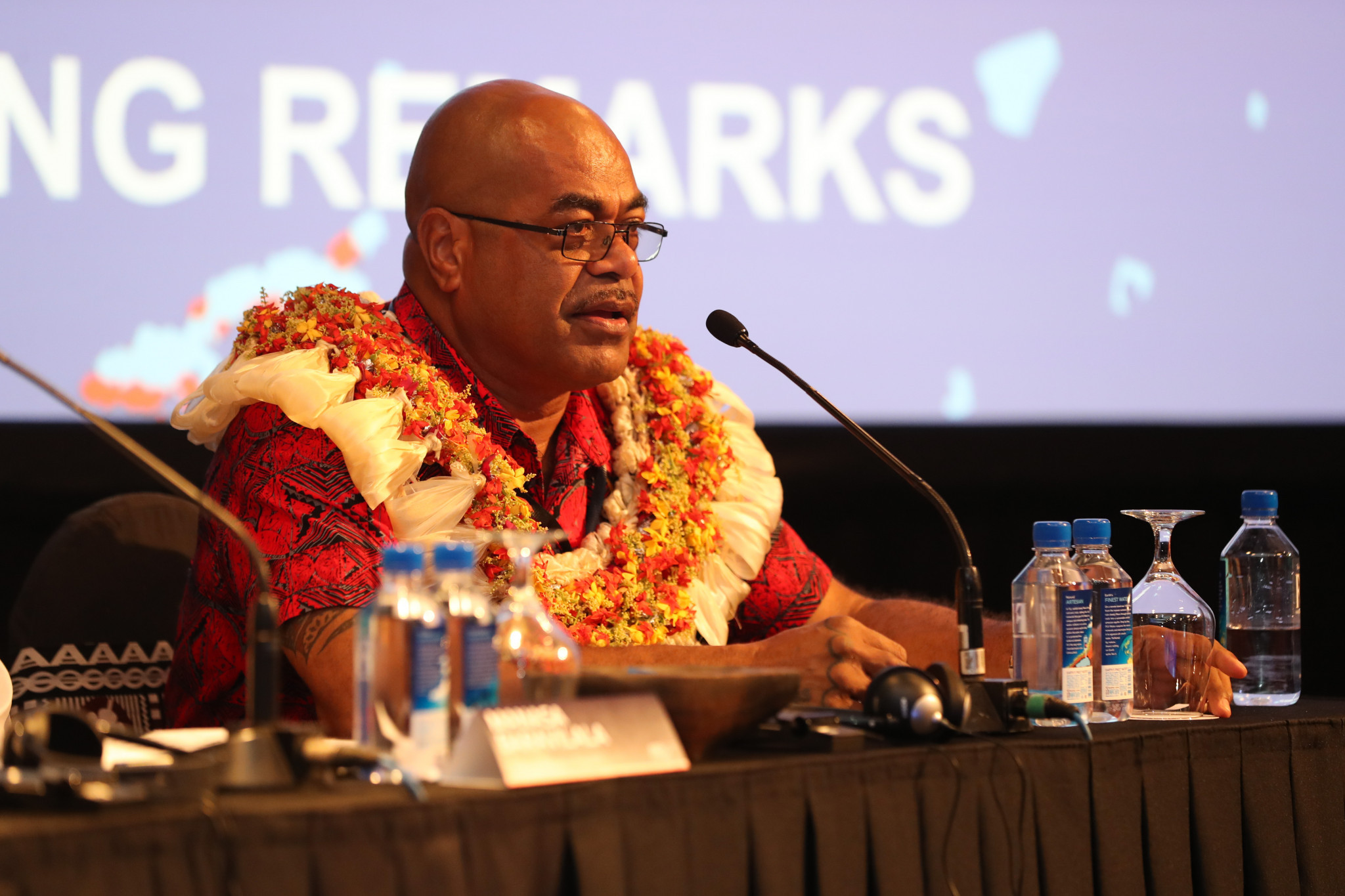 Fiji's Secretary of Youth and Sports Jone Nemani Maretino welcomed delegates to his country ©AIBA