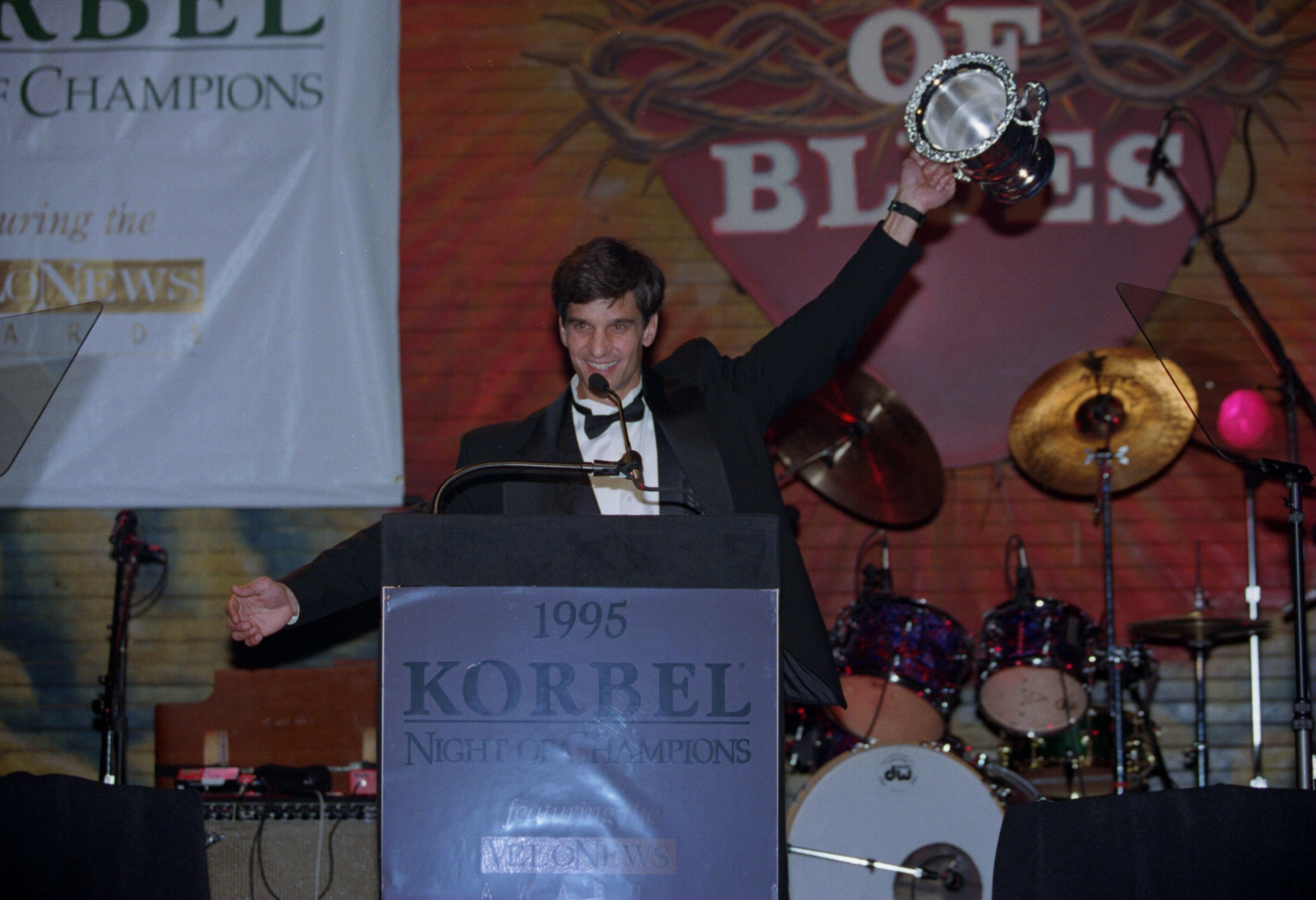 Heiden received the Korbel Lifetime Achievement Award at the House of Blues in Hollywood for his contributions to cycling in the US ©Getty Images