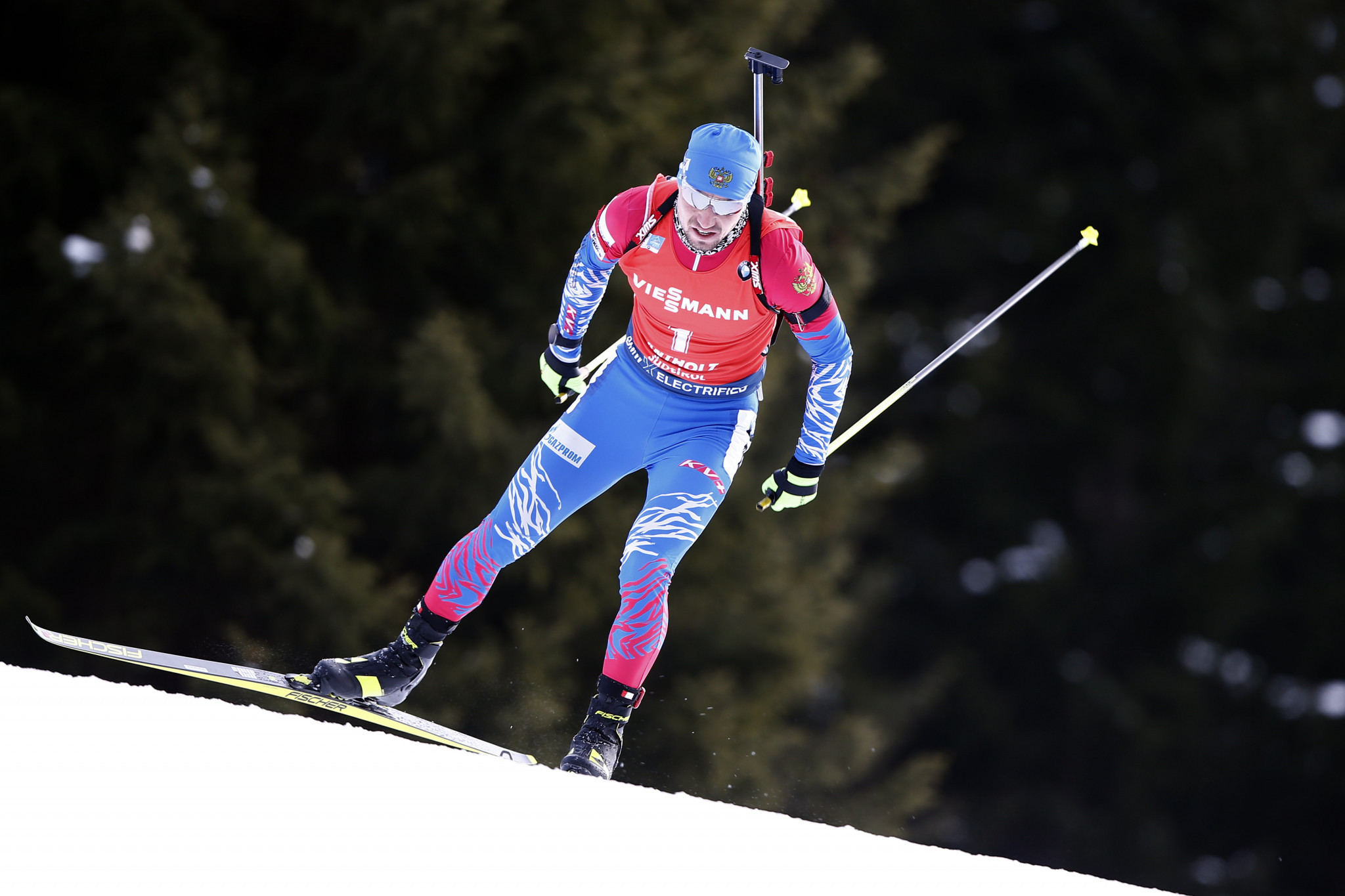 Alexander Loginov and his coach were targeted in the raid at the Biathlon World Championships ©Getty Images