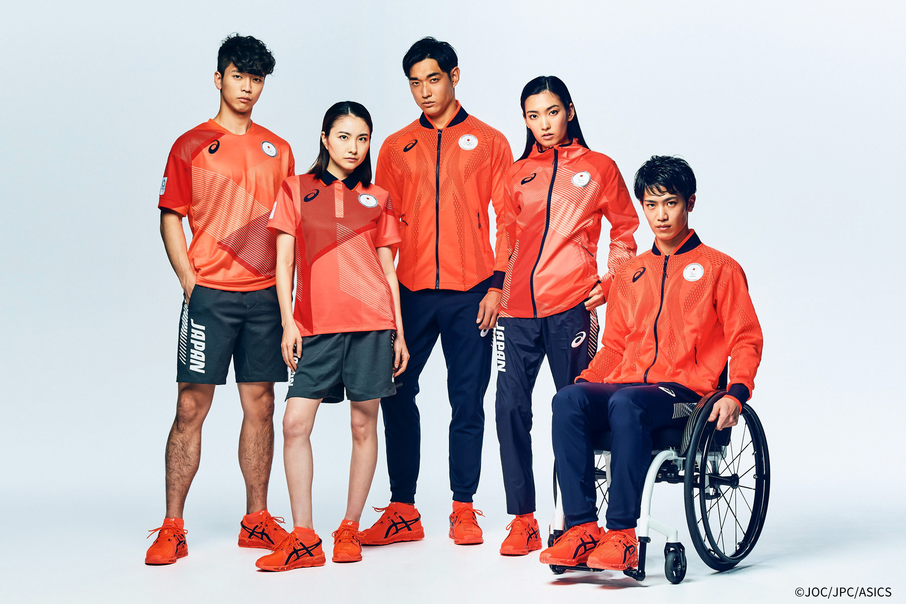 Japan's casual wear for Tokyo 2020 has been launched ©JOC/JPC/Asics