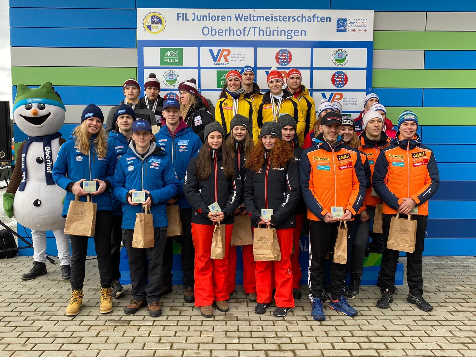 Germany topped the podium after winning the team competition to wrap up the FIL Junior World Championships ©Twitter/FIL_Luge