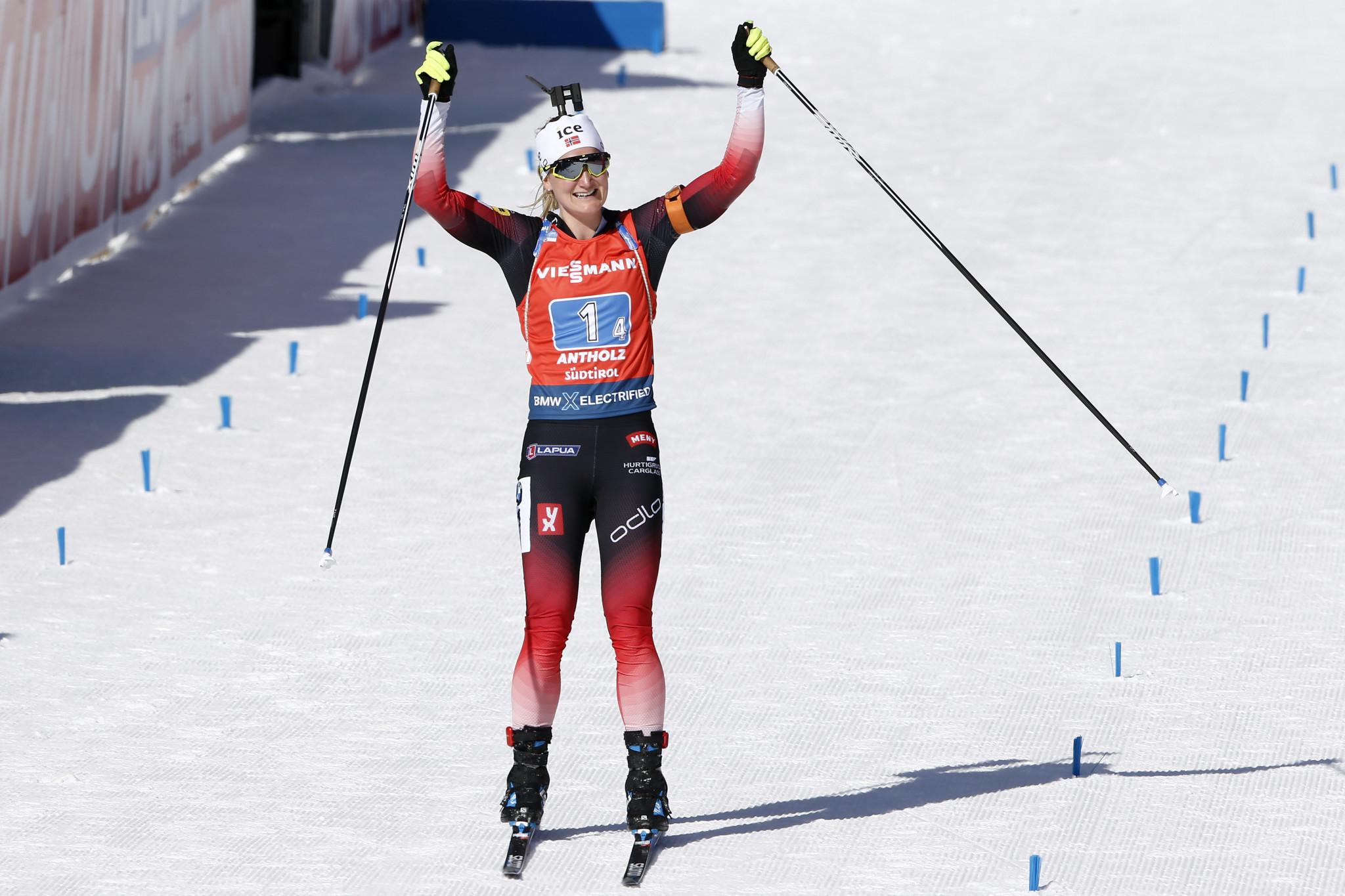 Røiseland secures fourth gold medal at Biathlon World Championships