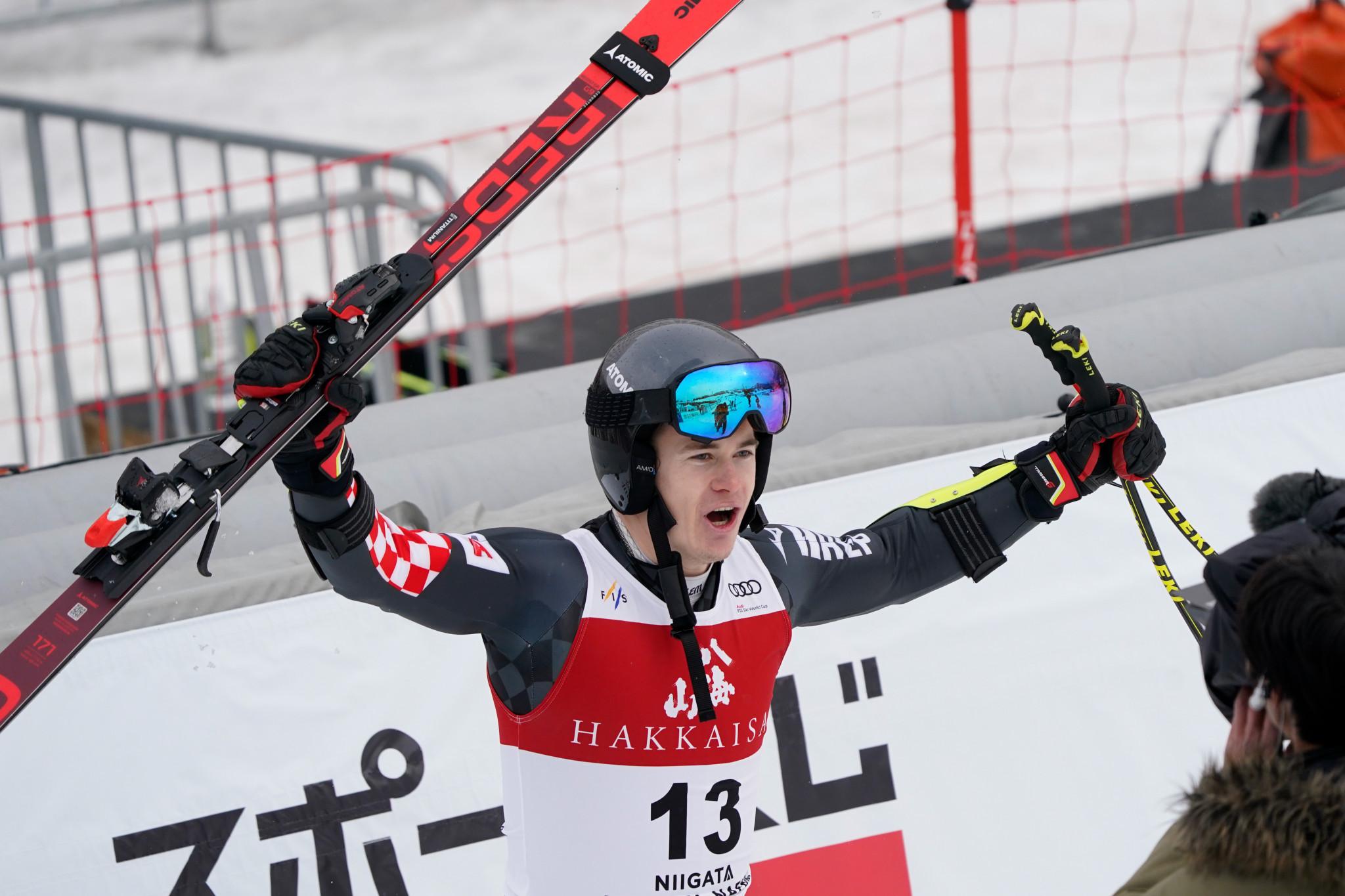 Zubčić clinches first Croatian FIS Alpine Ski World Cup giant slalom win