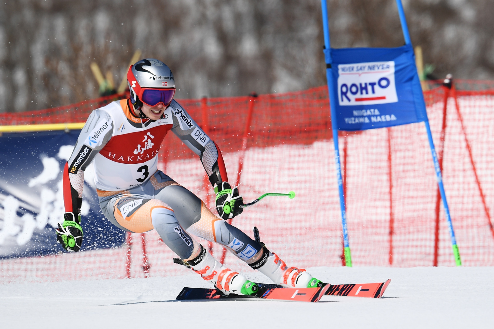 Henrik Kristoffersen led after the first run but ultimately finished fifth ©Getty Images