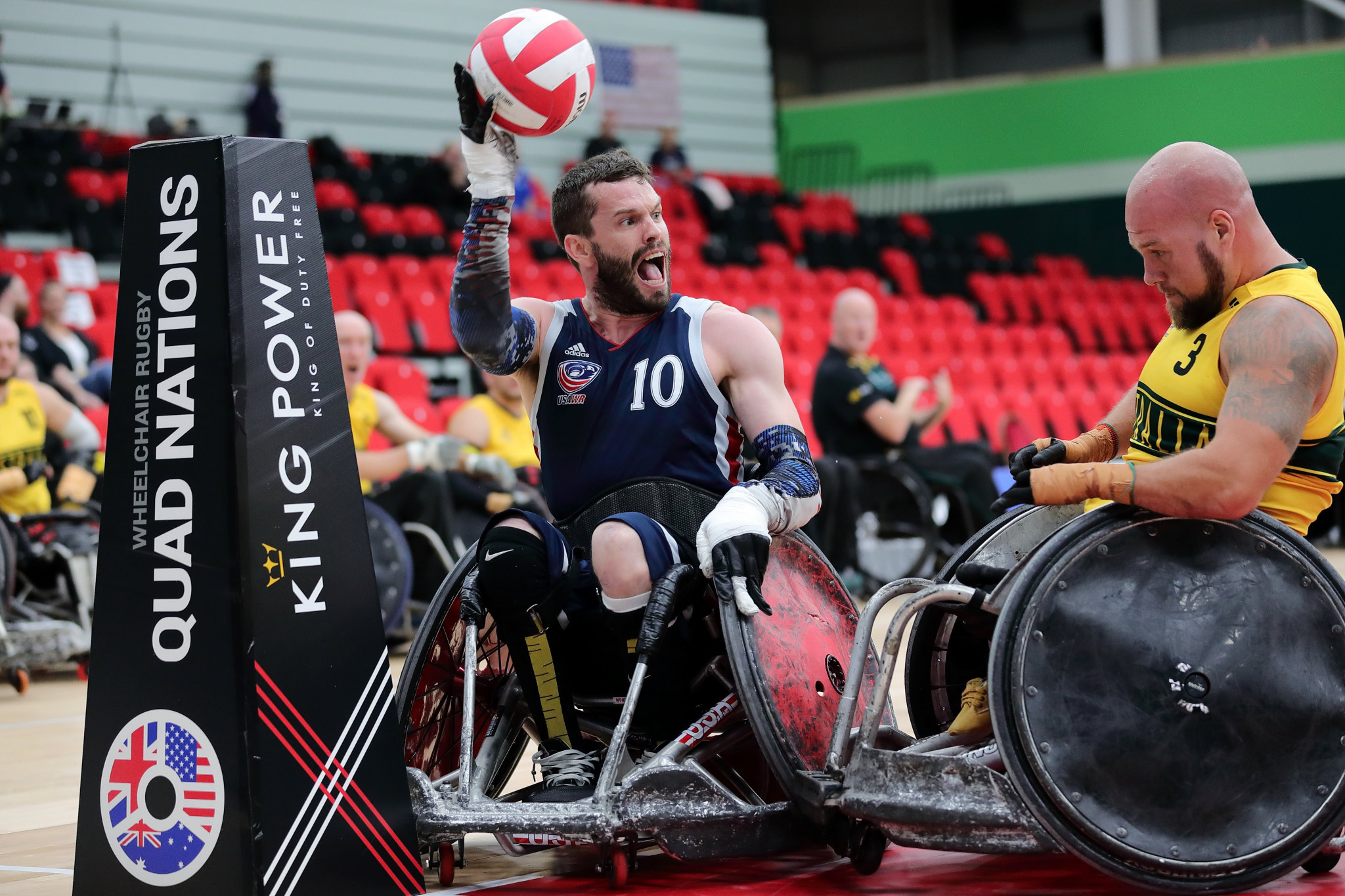Unbeaten United States into Wheelchair Rugby Quad Nations final