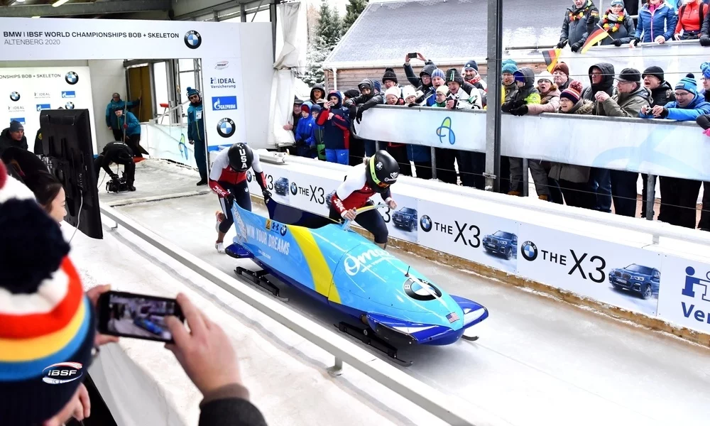 Humphries seals third title at IBSF World Championships in Altenberg