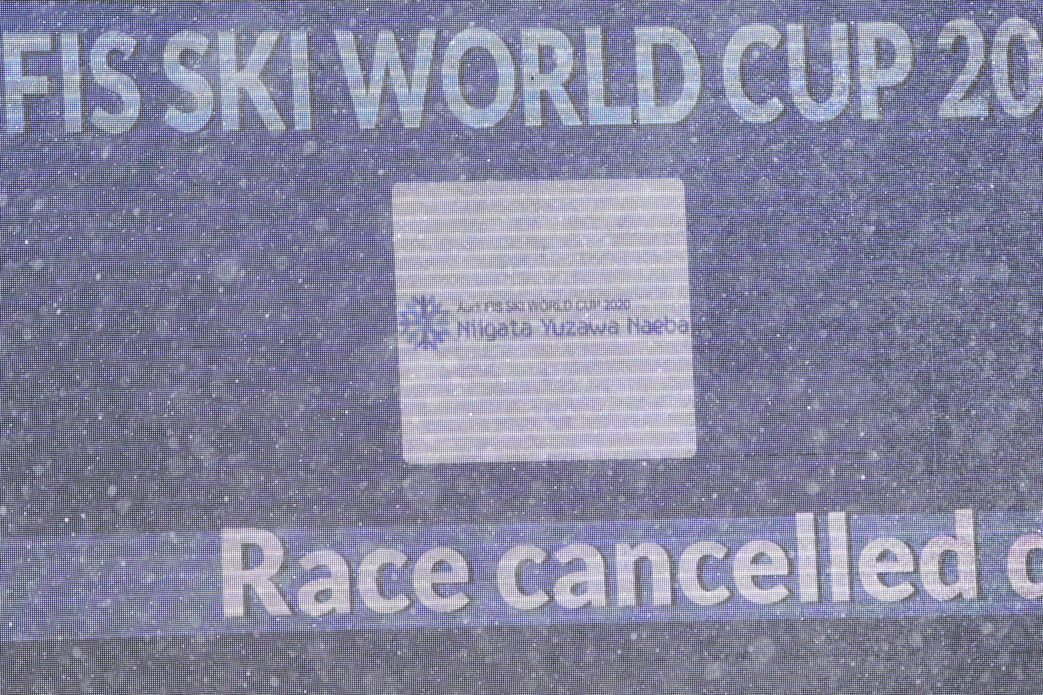 The race was cancelled before the first run ©Getty Images