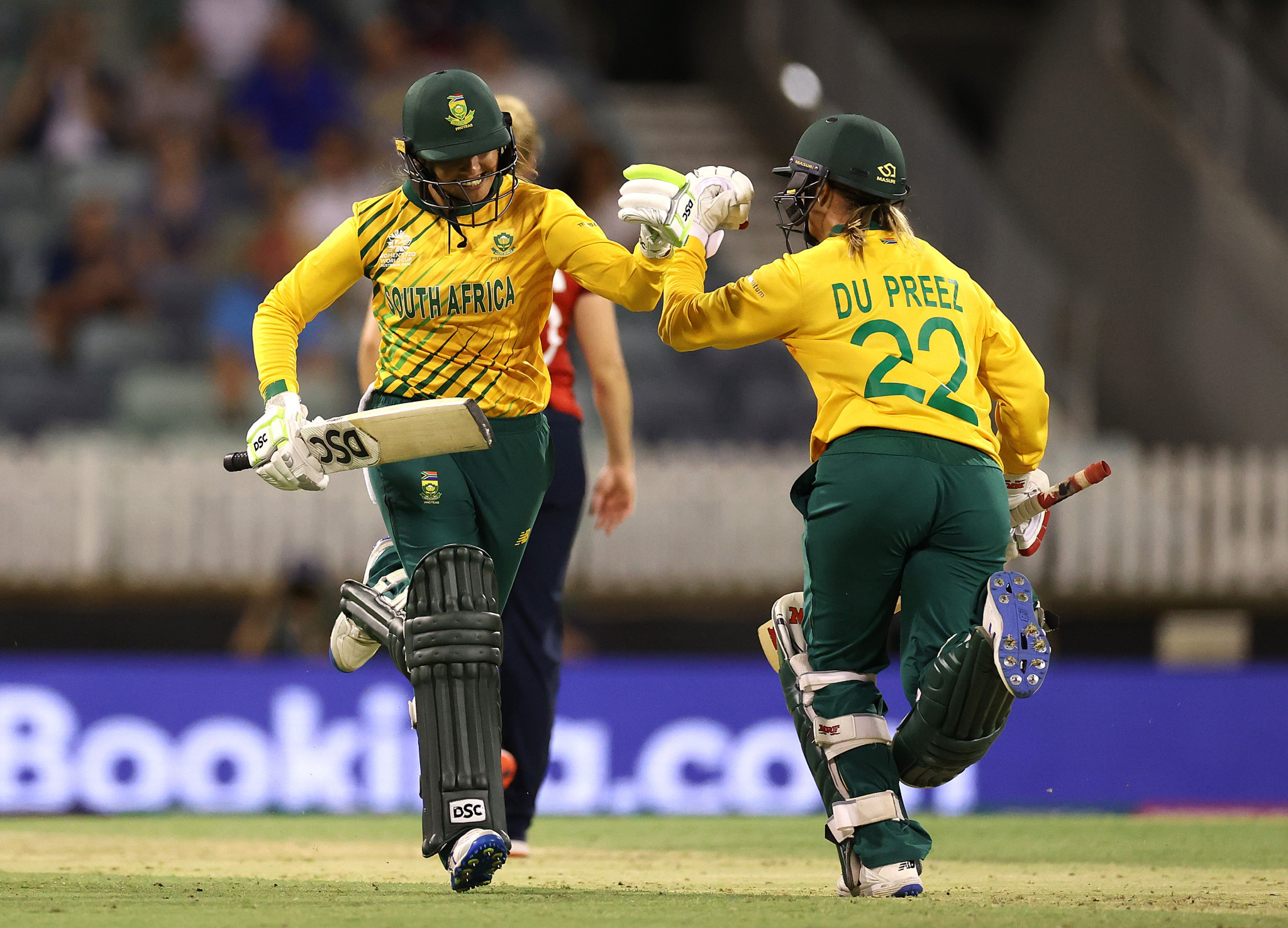 South Africa surprised England at the Women's T20 World Cup in Perth ©Getty Images