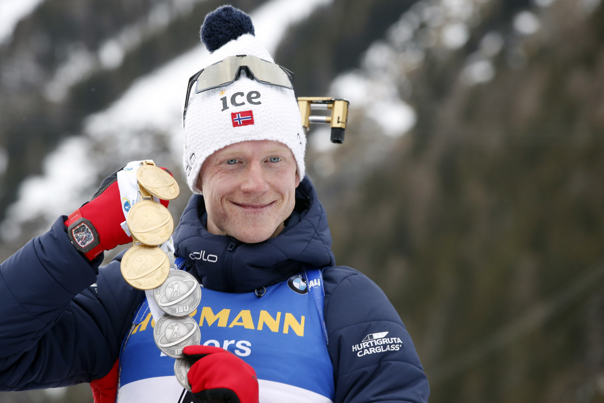 Johannes Thingnes Bø won his third gold medal of the event ©Getty Images