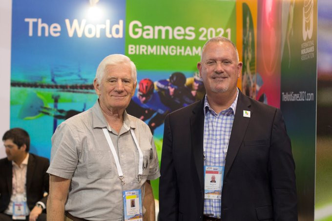 Nick Sellers replaces DJ Mackovets, right, as chief executive of Birmingham 2021 ©Twitter
