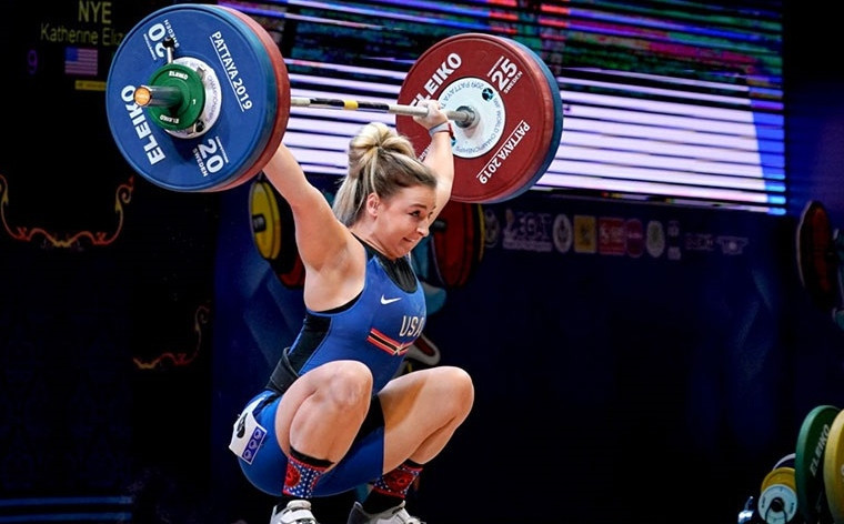 The United States' Katherine Nye has been voted the International Weightlifting Federation Women's Weightlifter of the Year