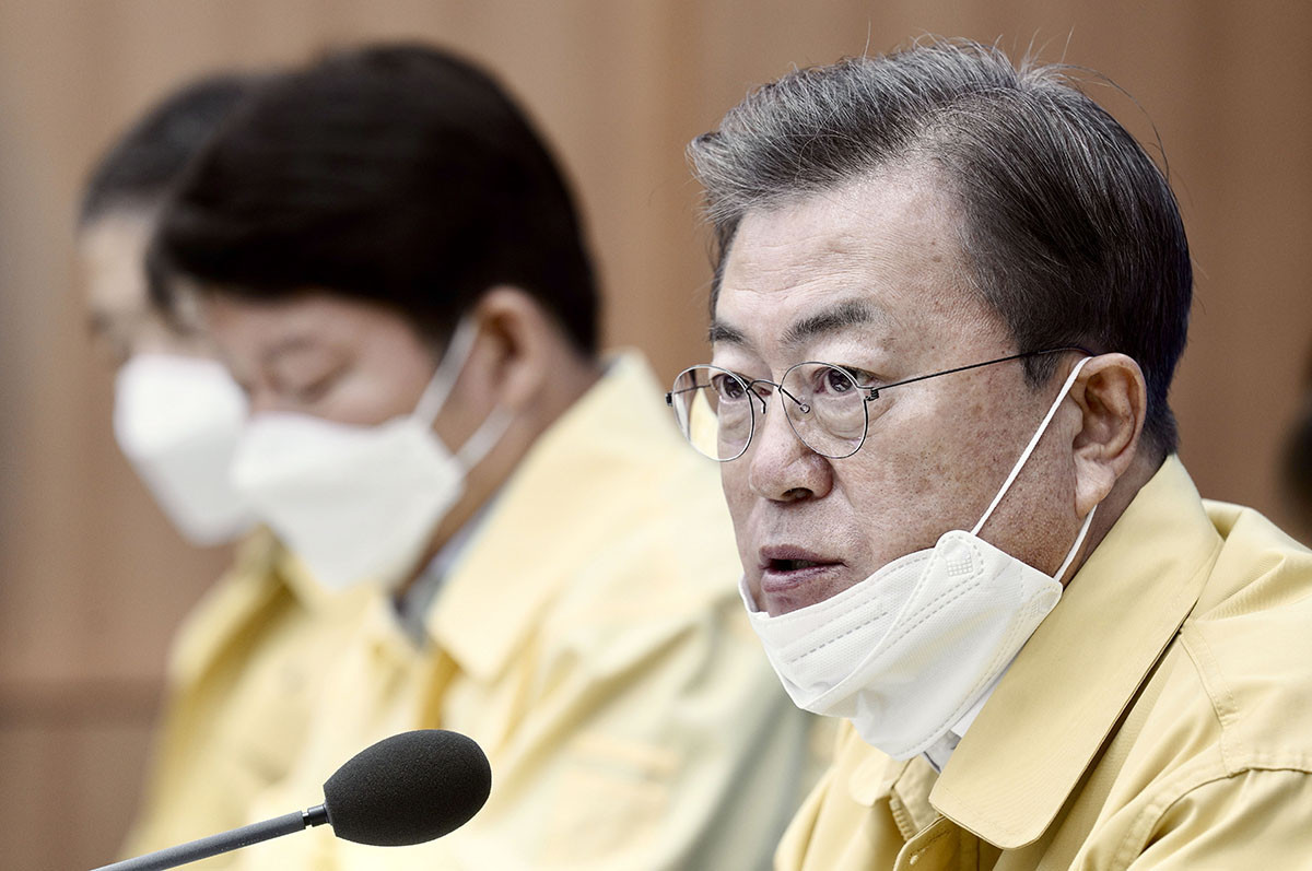"South Korean President President Moon Jae-in has described the rise in coronavirus cases in the country as being ""very grave"" as more than 1,000 people have so far been infected ©Getty Images"